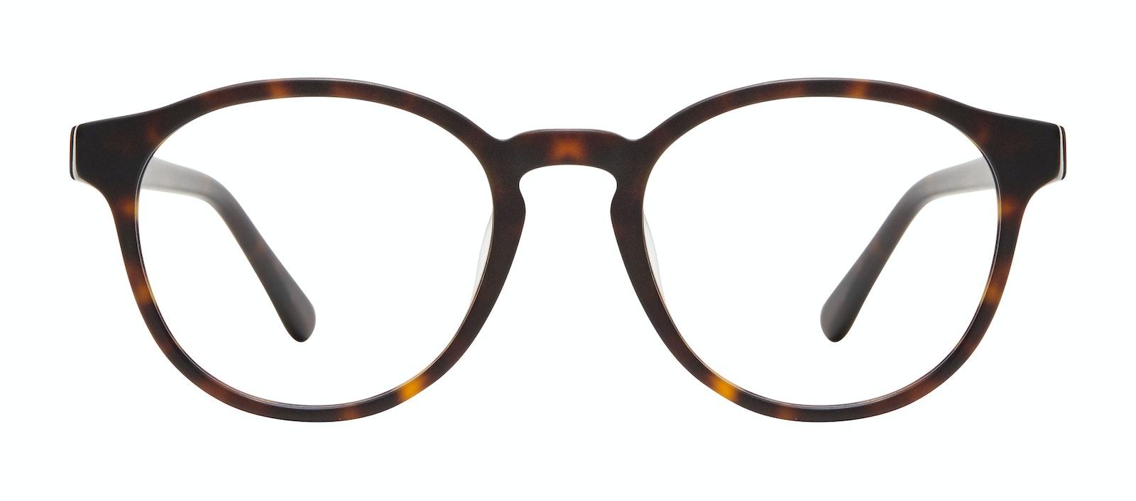 Affordable Fashion Glasses Round Eyeglasses Men Aussie Matte Tortoise Front