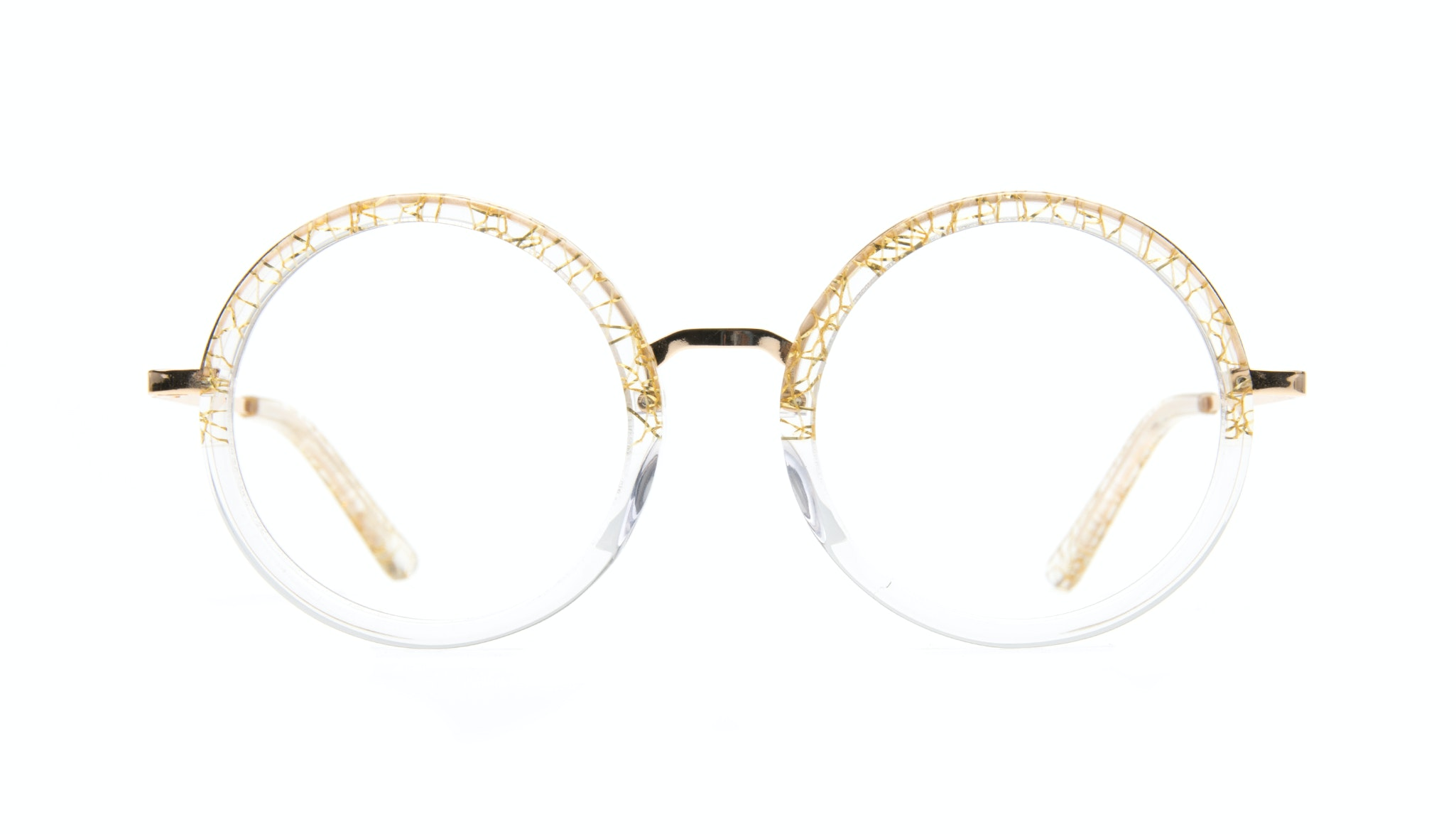 Affordable Fashion Glasses Round Eyeglasses Women Balance clear-champagne