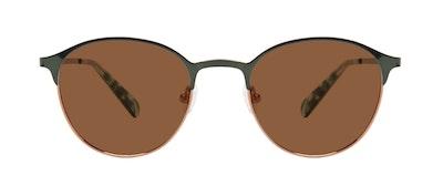 Affordable Fashion Glasses Round Sunglasses Women Bay II Emeraude Front