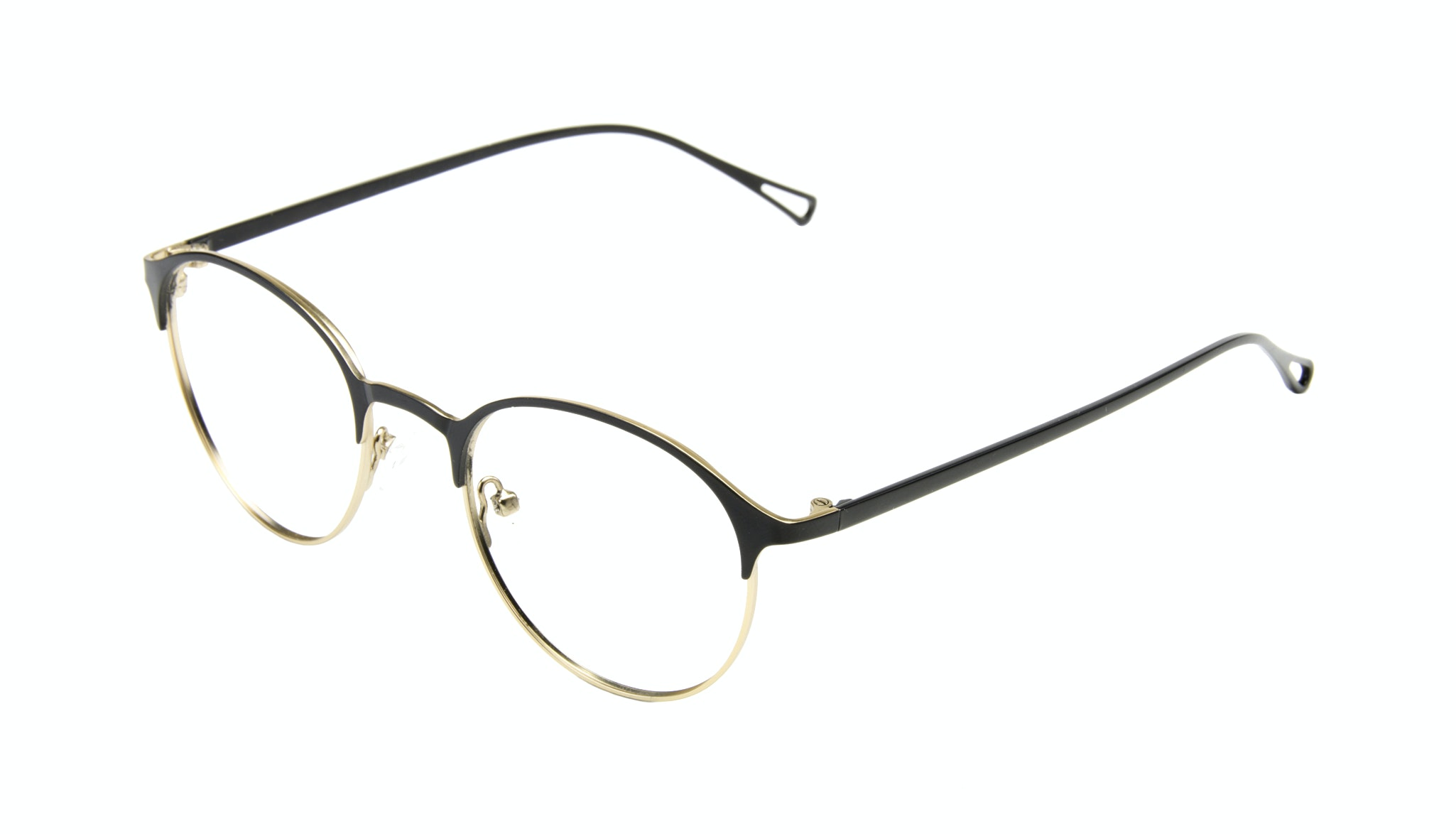 Affordable Fashion Glasses Round Eyeglasses Women Bay Deep Gold Tilt