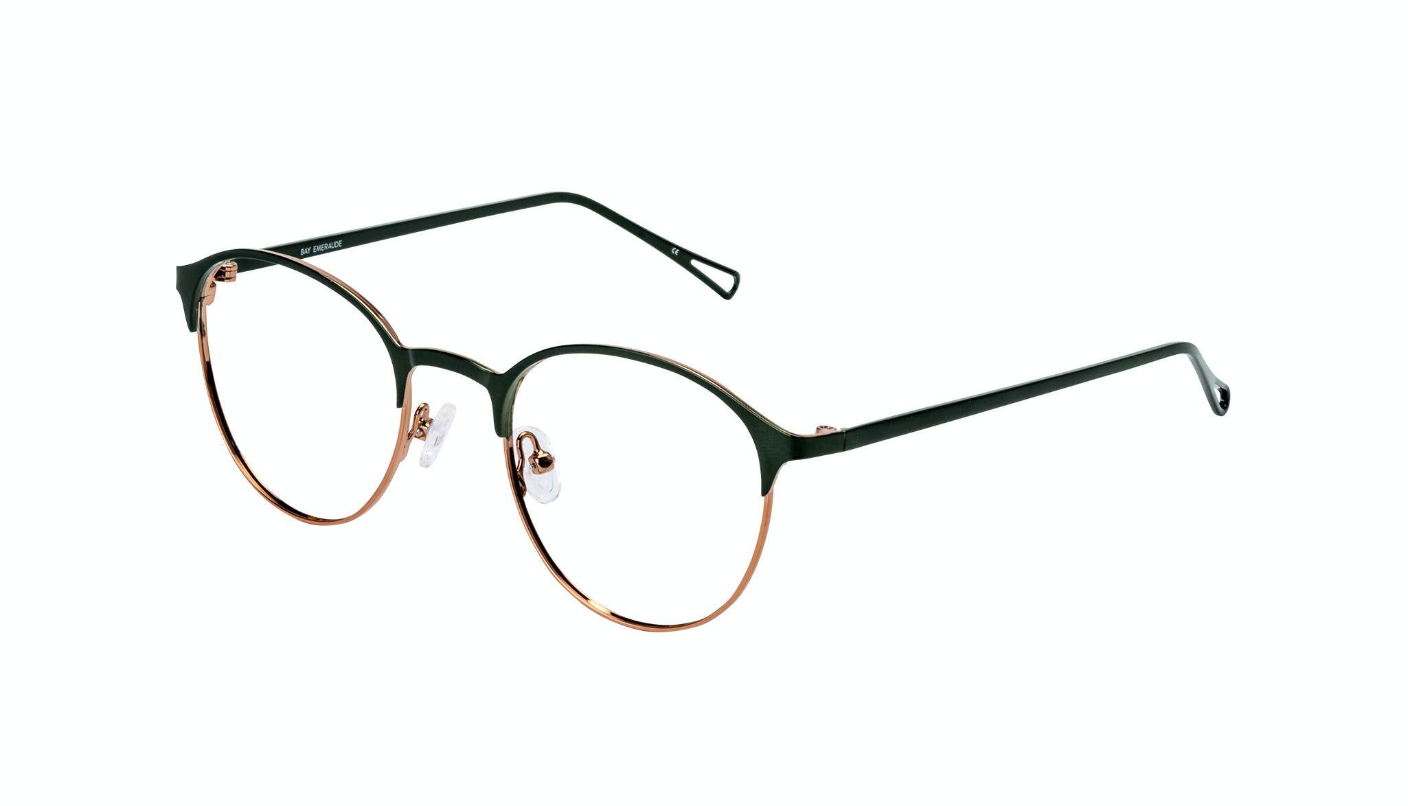 Affordable Fashion Glasses Round Eyeglasses Women Bay Emeraude Tilt