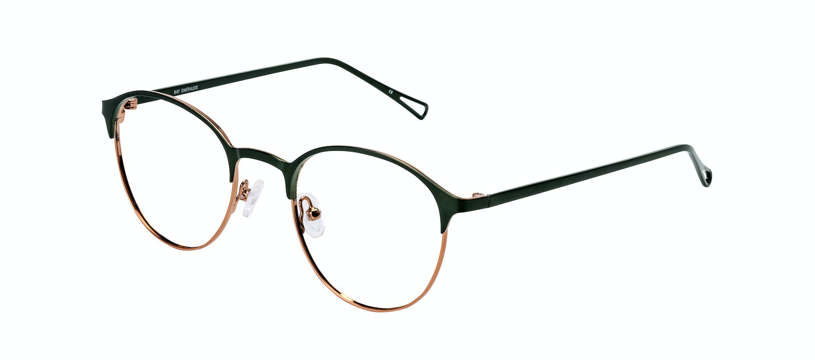 Affordable Fashion Glasses Round Eyeglasses Women Bay Emeraude Tilt