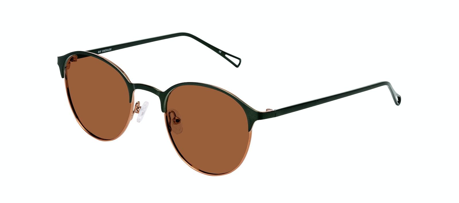 Affordable Fashion Glasses Round Sunglasses Women Bay Emeraude Tilt