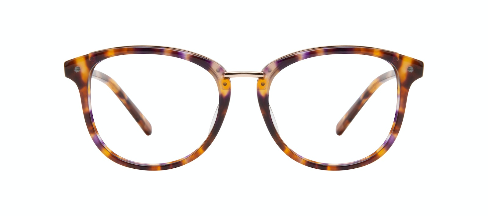 Affordable Fashion Glasses Round Eyeglasses Women Bella Petite Dark Tortoise Front