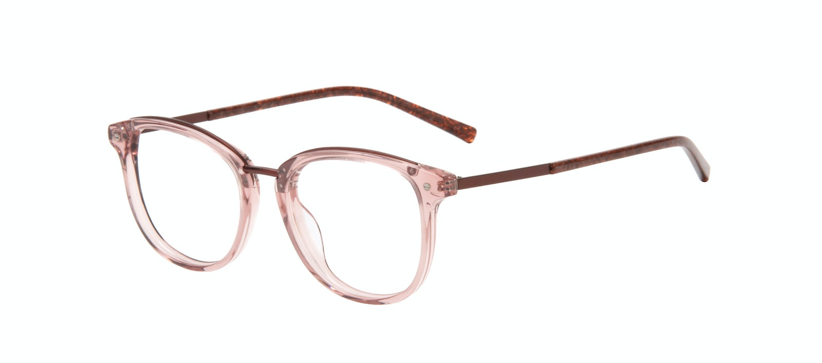 Affordable Fashion Glasses Square Eyeglasses Women Bella Petite Rose Tilt