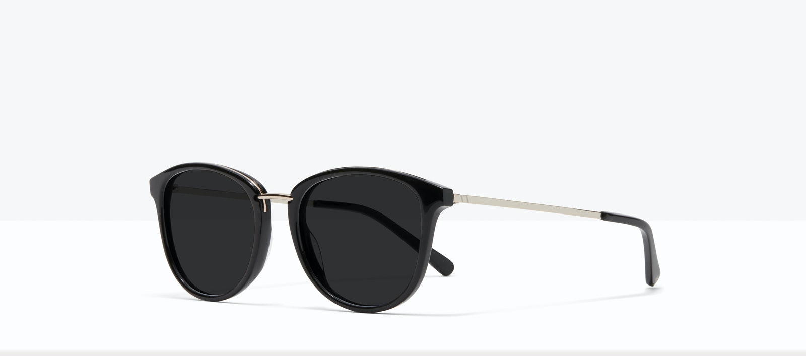 Affordable Fashion Glasses Square Round Sunglasses Women Bella XS Black Tilt