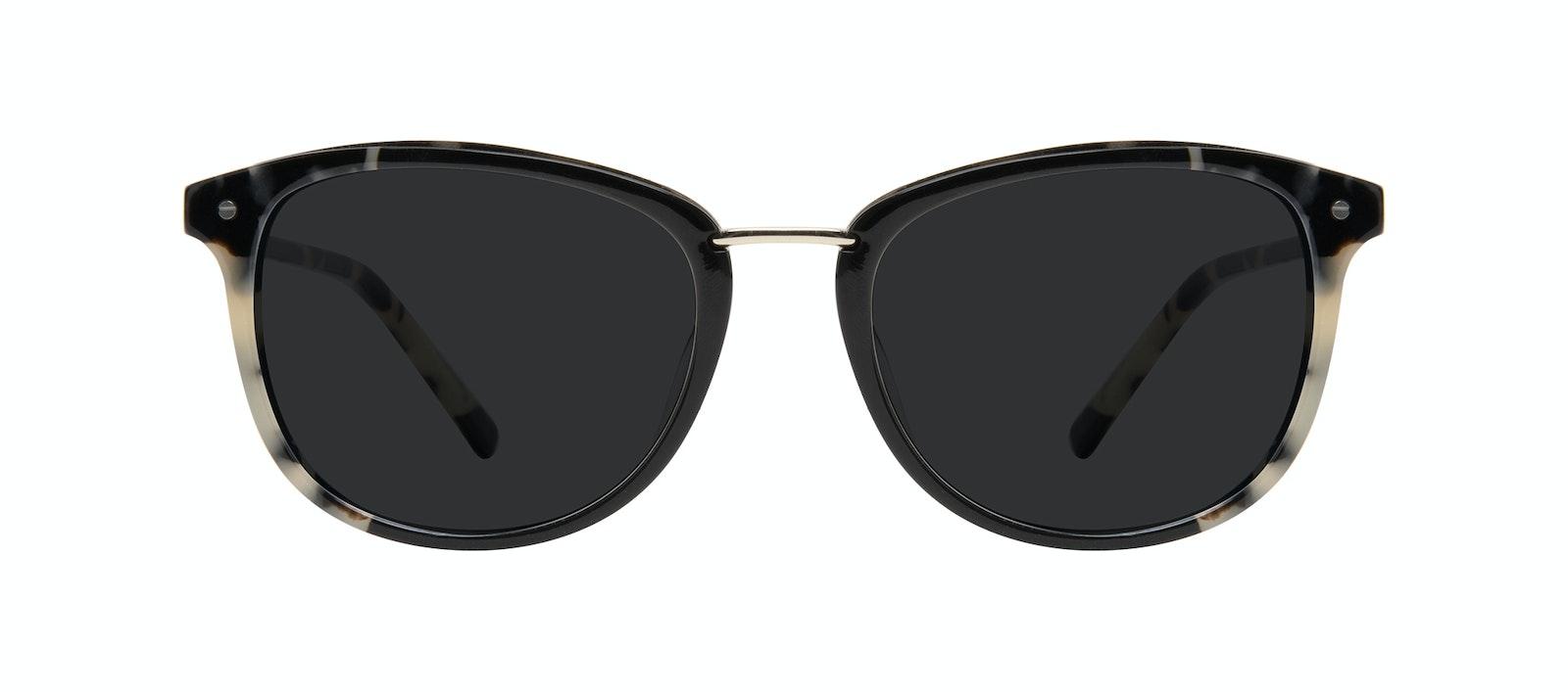 Affordable Fashion Glasses Square Round Sunglasses Women Bella Ebony Granite Front