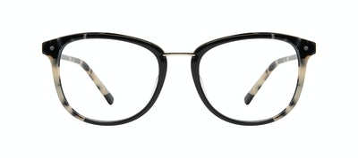 Affordable Fashion Glasses Square Round Eyeglasses Women Bella Ebony Granite Front