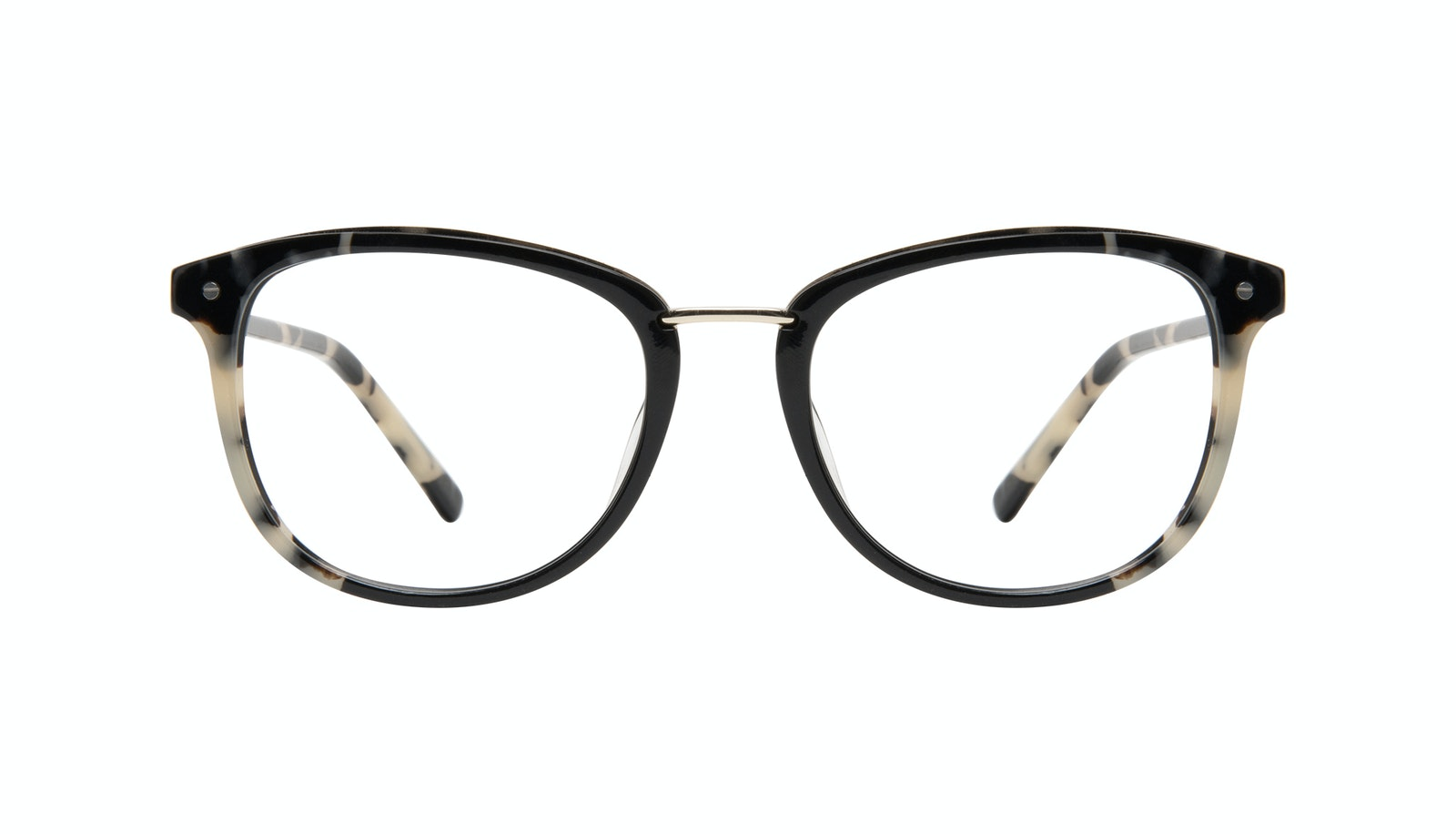 Affordable Fashion Glasses Square Round Eyeglasses Women Bella Ebony Granite