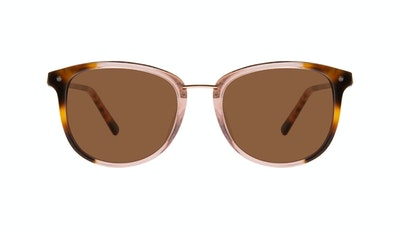 Affordable Fashion Glasses Square Round Sunglasses Women Bella Rose Tort Front