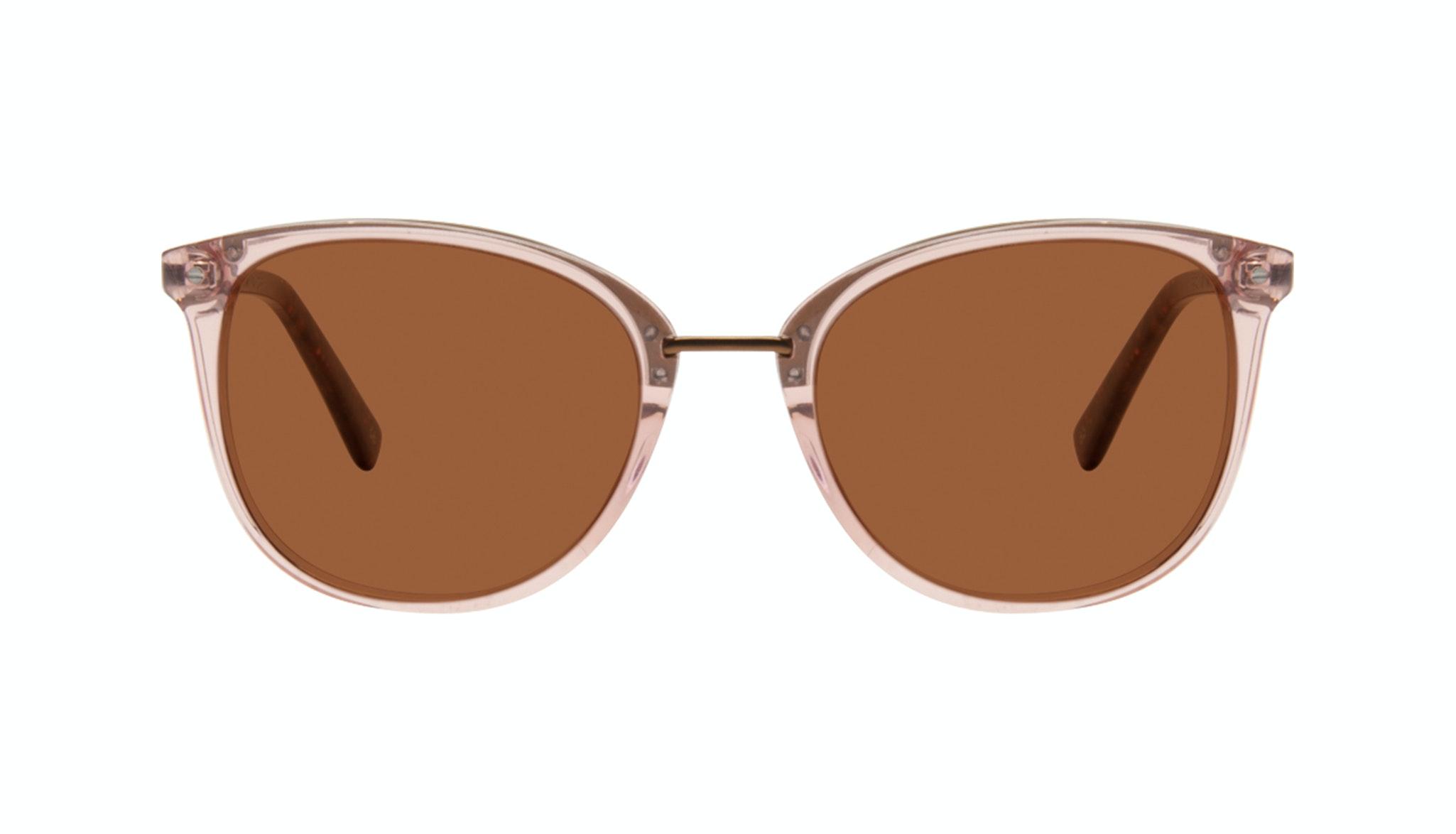 Affordable Fashion Glasses Square Round Sunglasses Women Bella Rose Front
