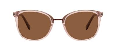 Affordable Fashion Glasses Square Round Sunglasses Women Bella M Rose Front