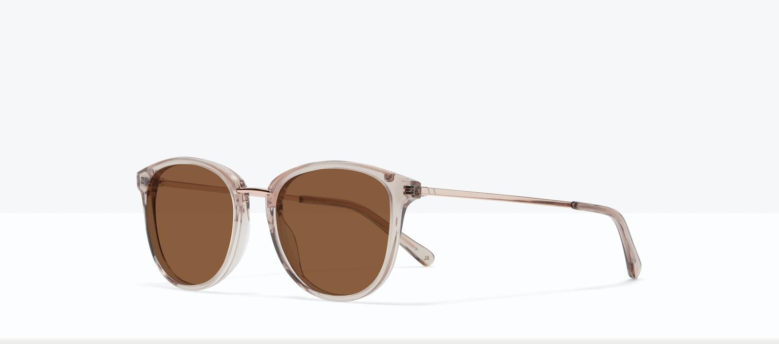 Affordable Fashion Glasses Square Round Sunglasses Women Bella XS Sand Tilt