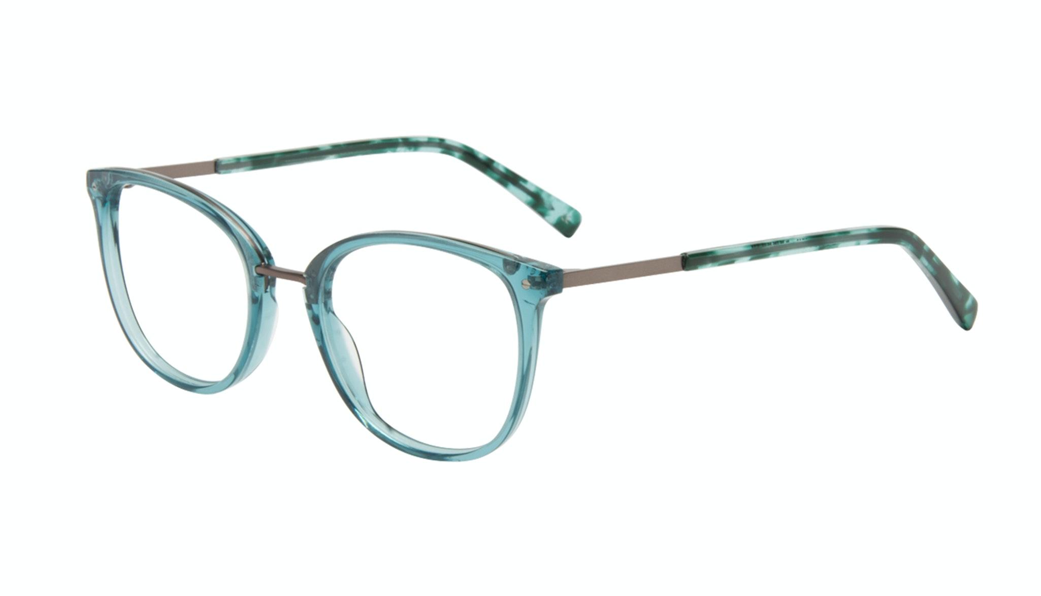 Affordable Fashion Glasses Square Round Eyeglasses Women Bella Teal Tilt