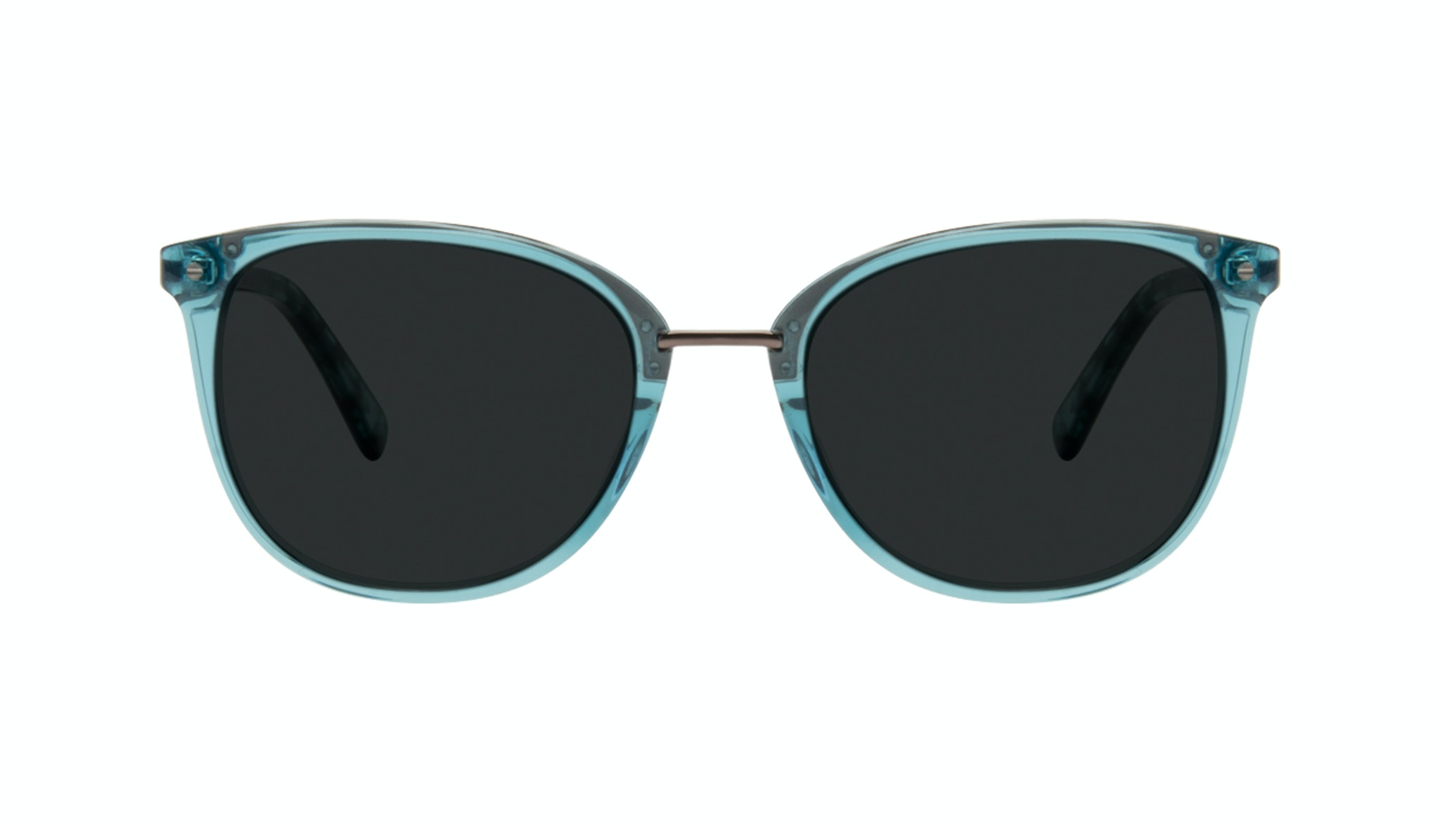 Affordable Fashion Glasses Square Round Sunglasses Women Bella Teal Front
