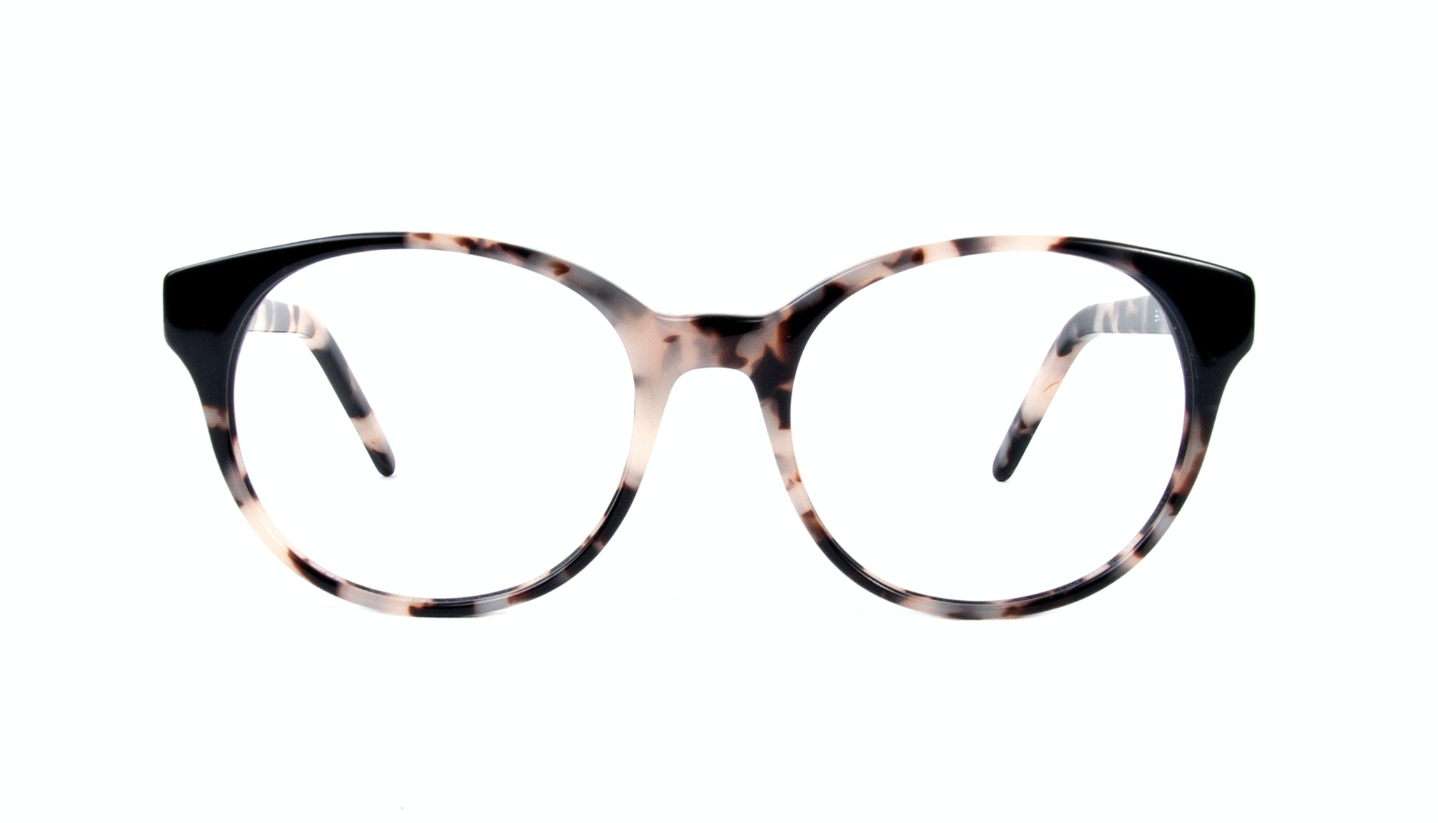 Affordable Fashion Glasses Round Eyeglasses Women Bis Granite Onyx