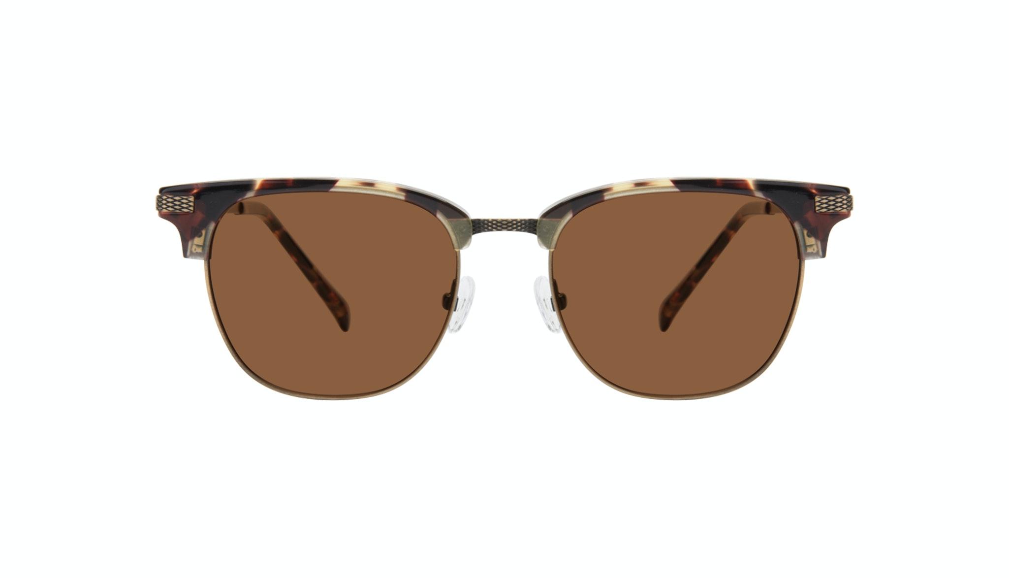 Affordable Fashion Glasses Square Sunglasses Men Blacktie Antique Tort Front