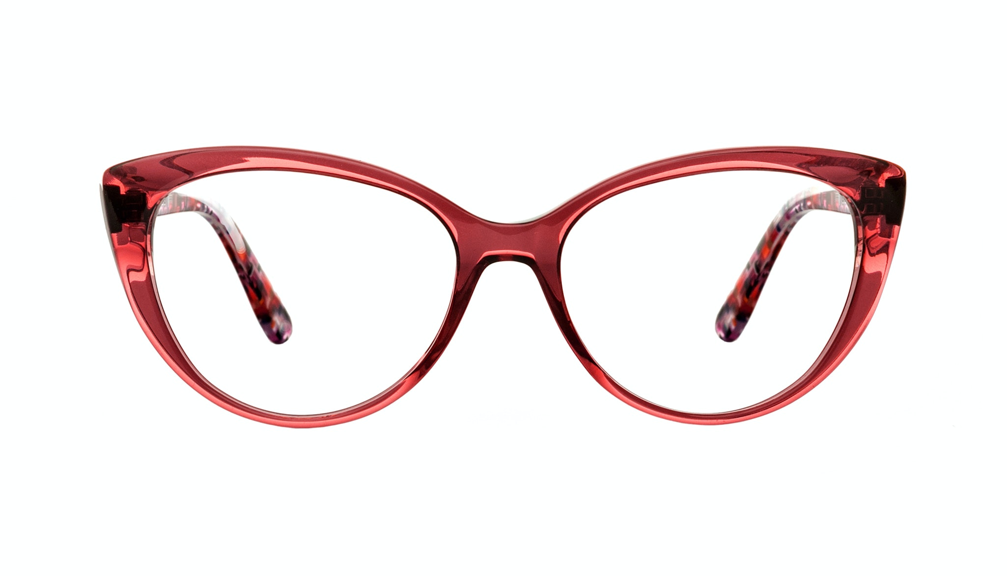 Affordable Fashion Glasses Cat Eye Eyeglasses Women Bliss Pink Berry Front