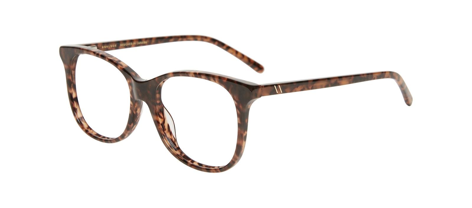 Affordable Fashion Glasses Square Eyeglasses Kids Bloom Junior Leopard Tilt