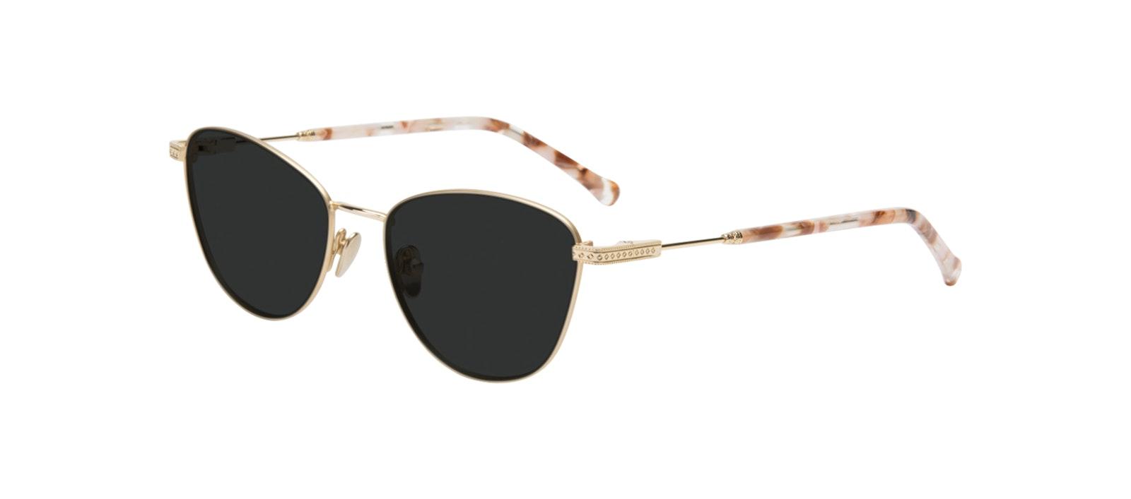 Affordable Fashion Glasses Cat Eye Sunglasses Women Bow Golden Quartz Tilt
