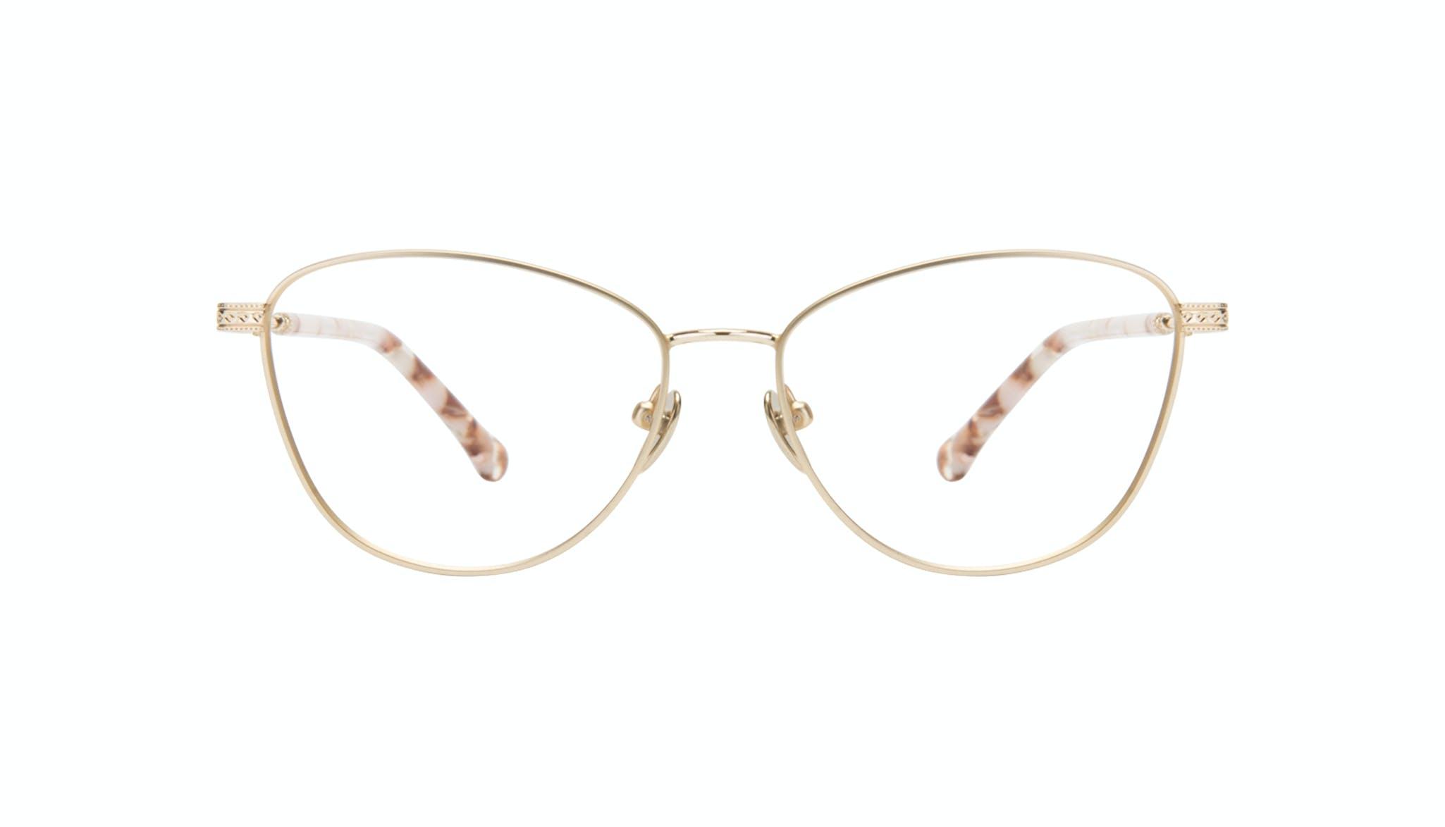 Affordable Fashion Glasses Cat Eye Eyeglasses Women Bow Golden Quartz Front