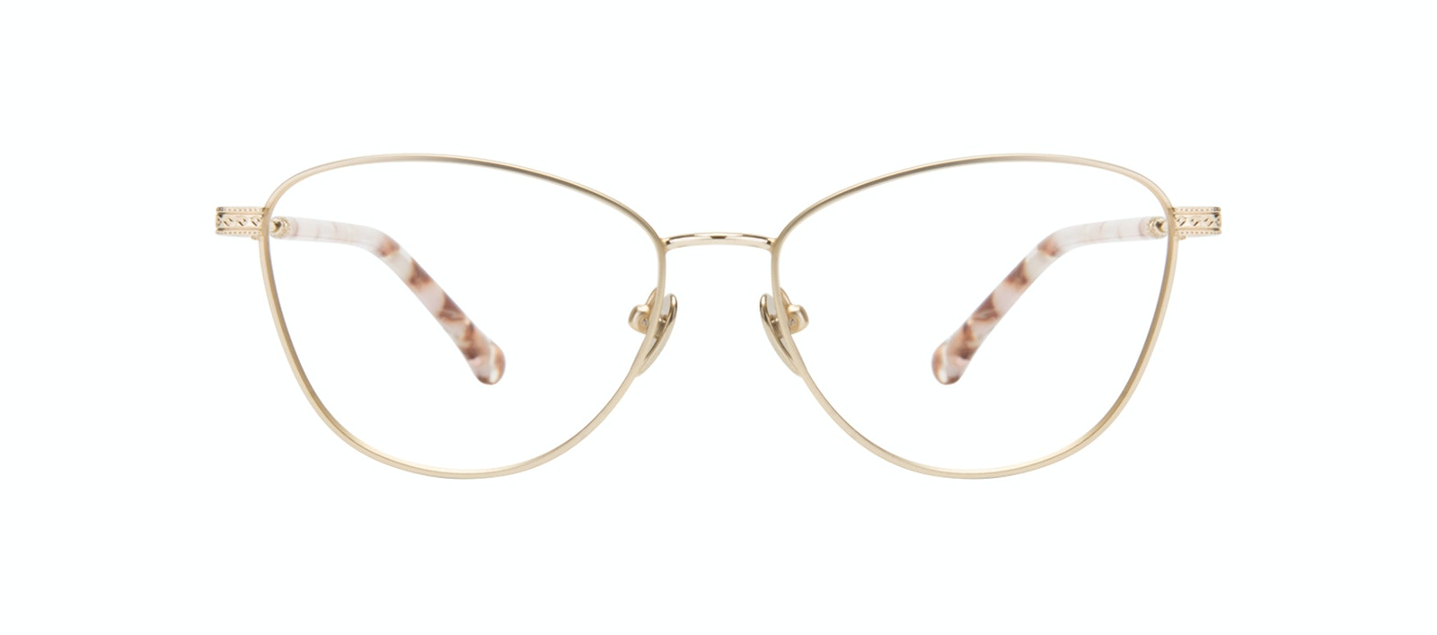 Affordable Fashion Glasses Cat Eye Eyeglasses Women Bow Golden Quartz Front