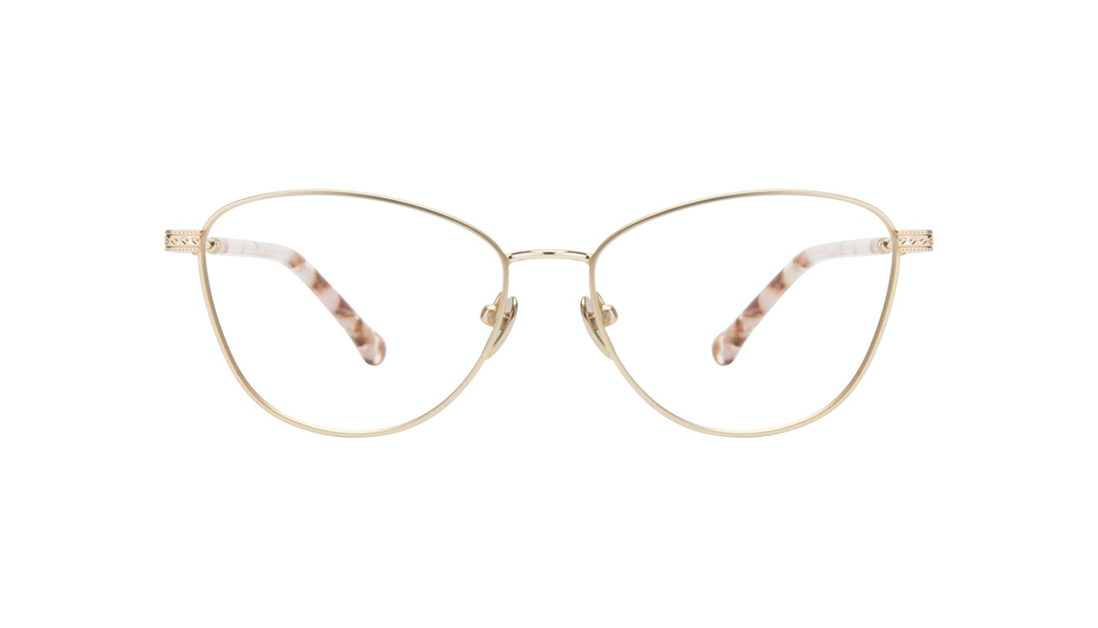 Affordable Fashion Glasses Cat Eye Eyeglasses Women Bow Golden Quartz