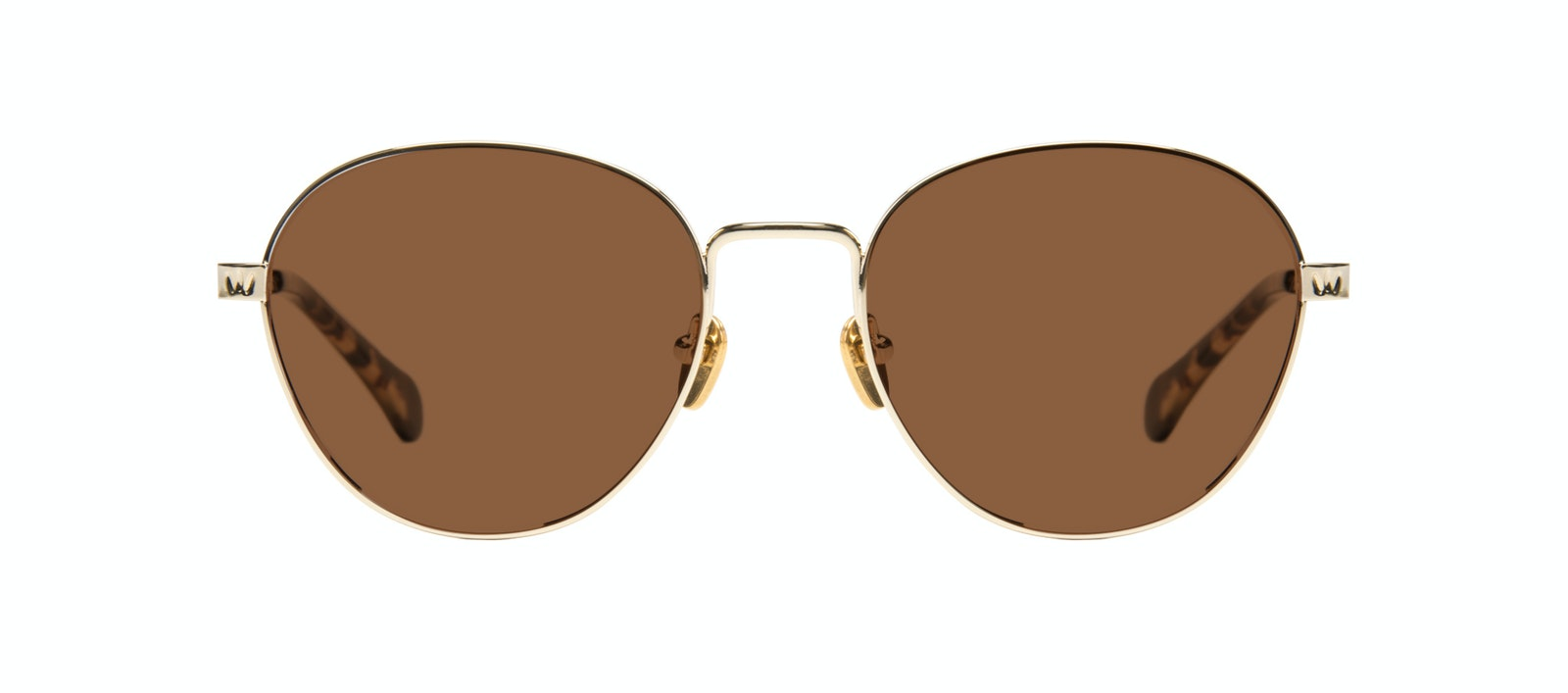 Affordable Fashion Glasses Round Sunglasses Women Brace Gold Front