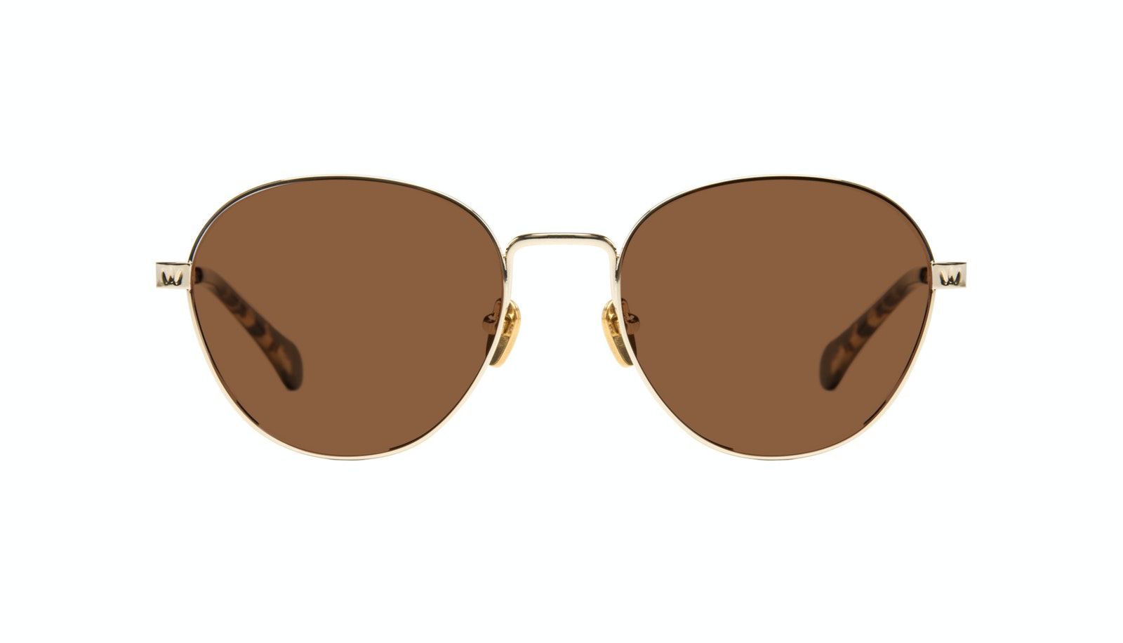 Affordable Fashion Glasses Round Sunglasses Women Brace Gold