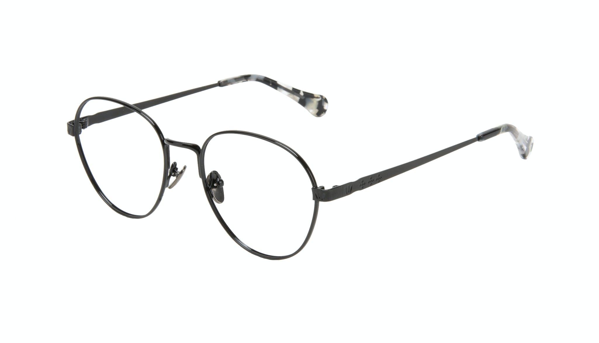 Affordable Fashion Glasses Round Eyeglasses Women Brace Onyx Marble Tilt