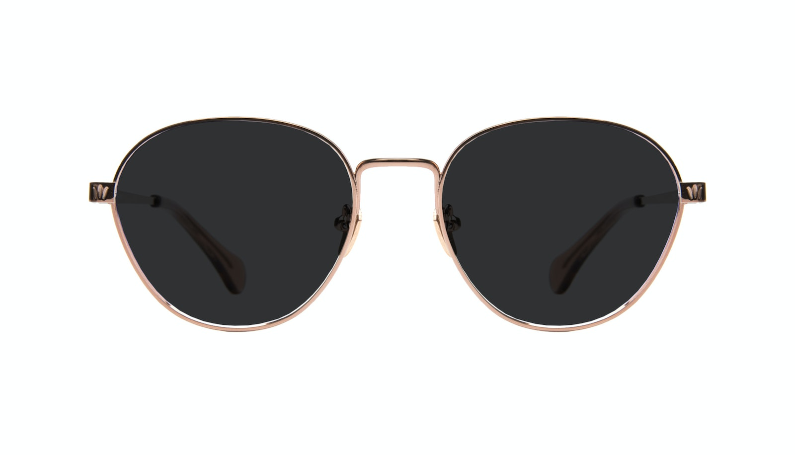 Affordable Fashion Glasses Round Sunglasses Women Brace Rose Gold