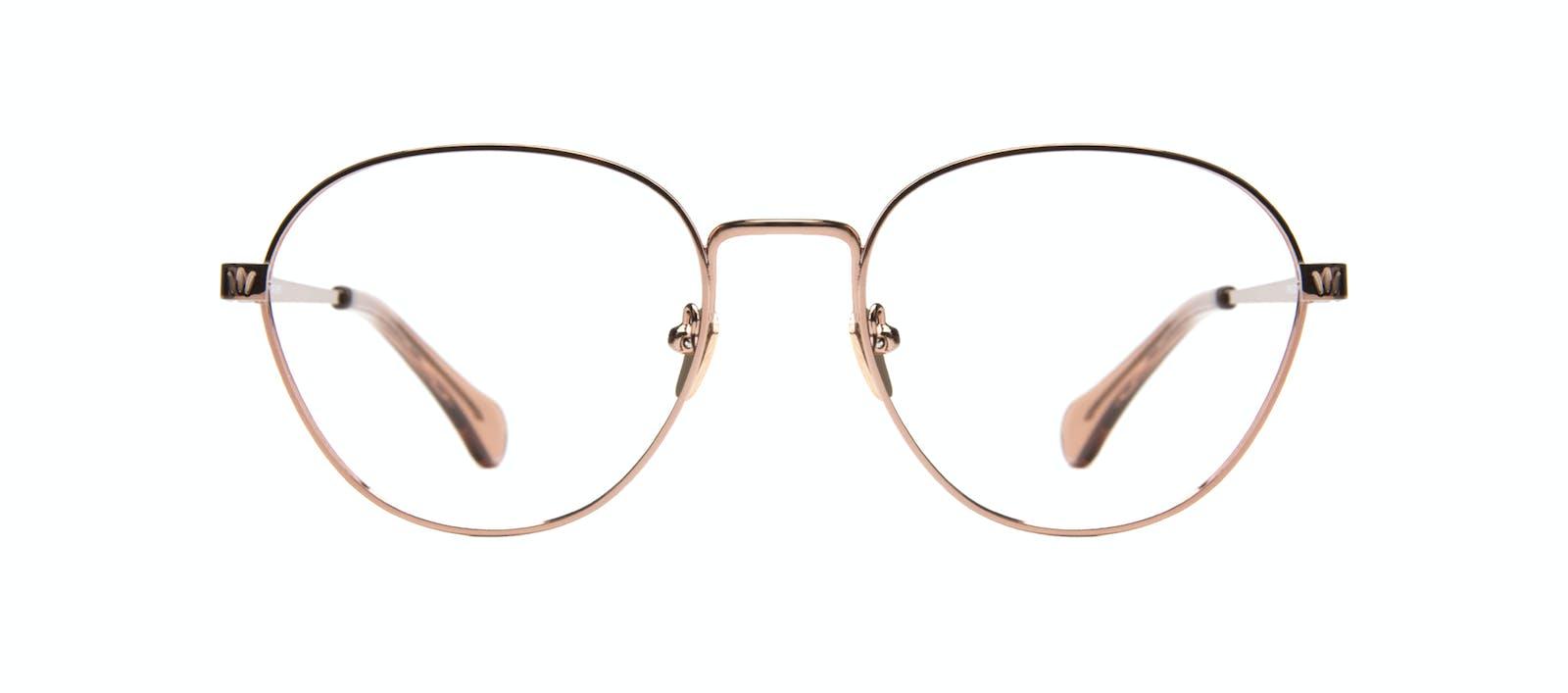 1471e9fa113d40 Affordable Fashion Glasses Round Eyeglasses Women Brace Rose Gold Face