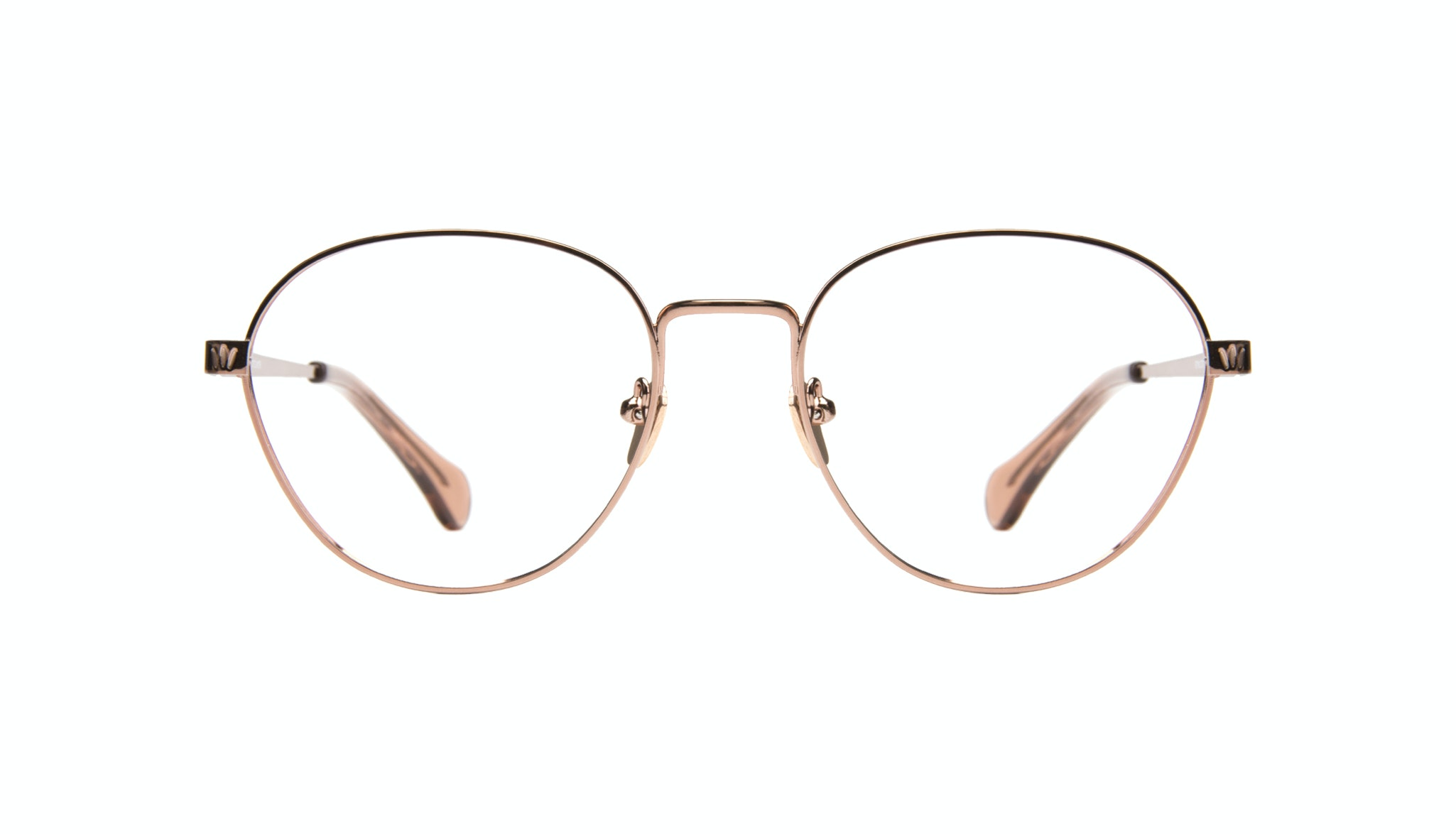 Affordable Fashion Glasses Round Eyeglasses Women Brace Rose Gold