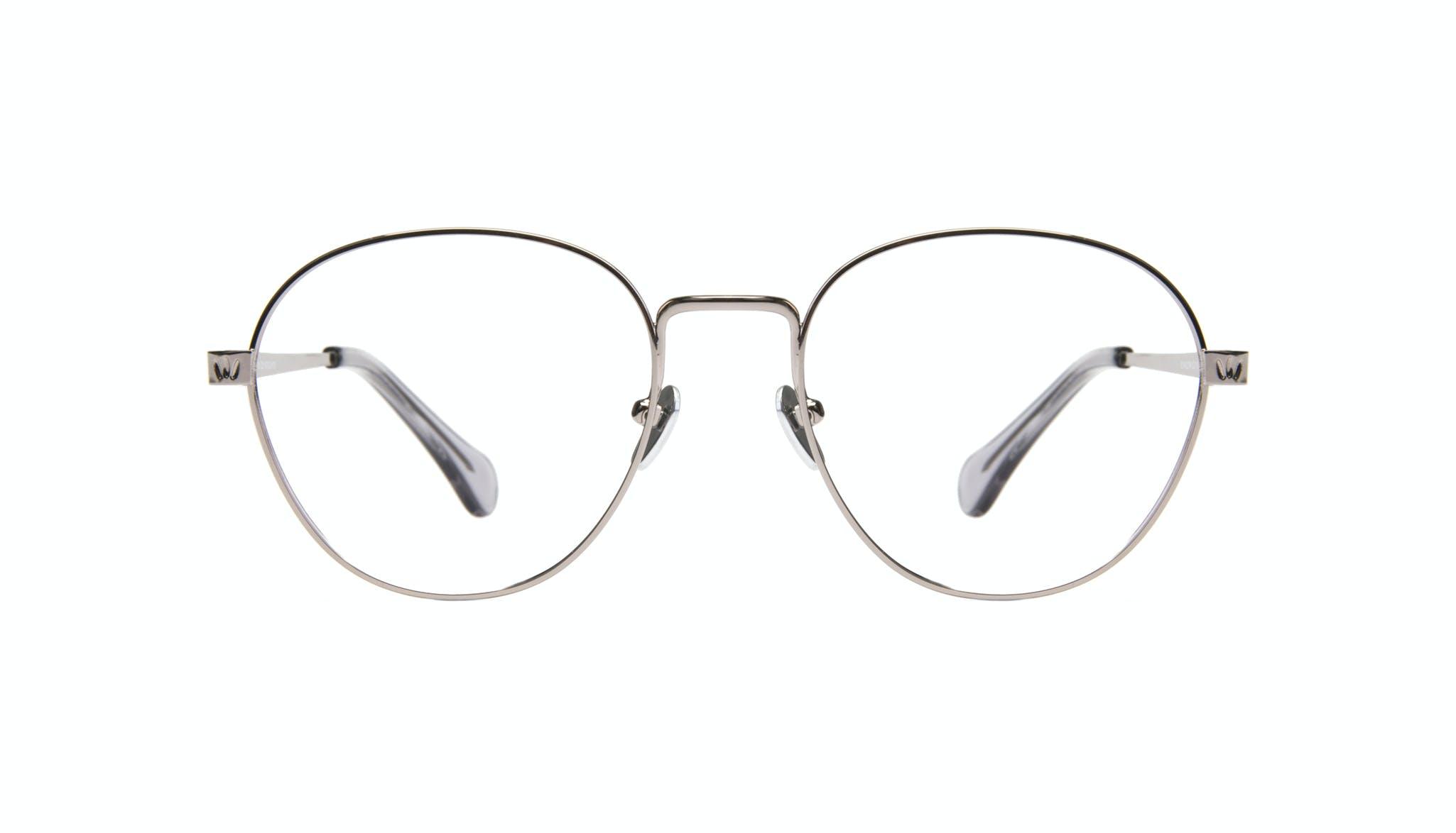Affordable Fashion Glasses Round Eyeglasses Women Brace Silver Front
