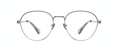 Affordable Fashion Glasses Round Eyeglasses Women Brace Silver Front