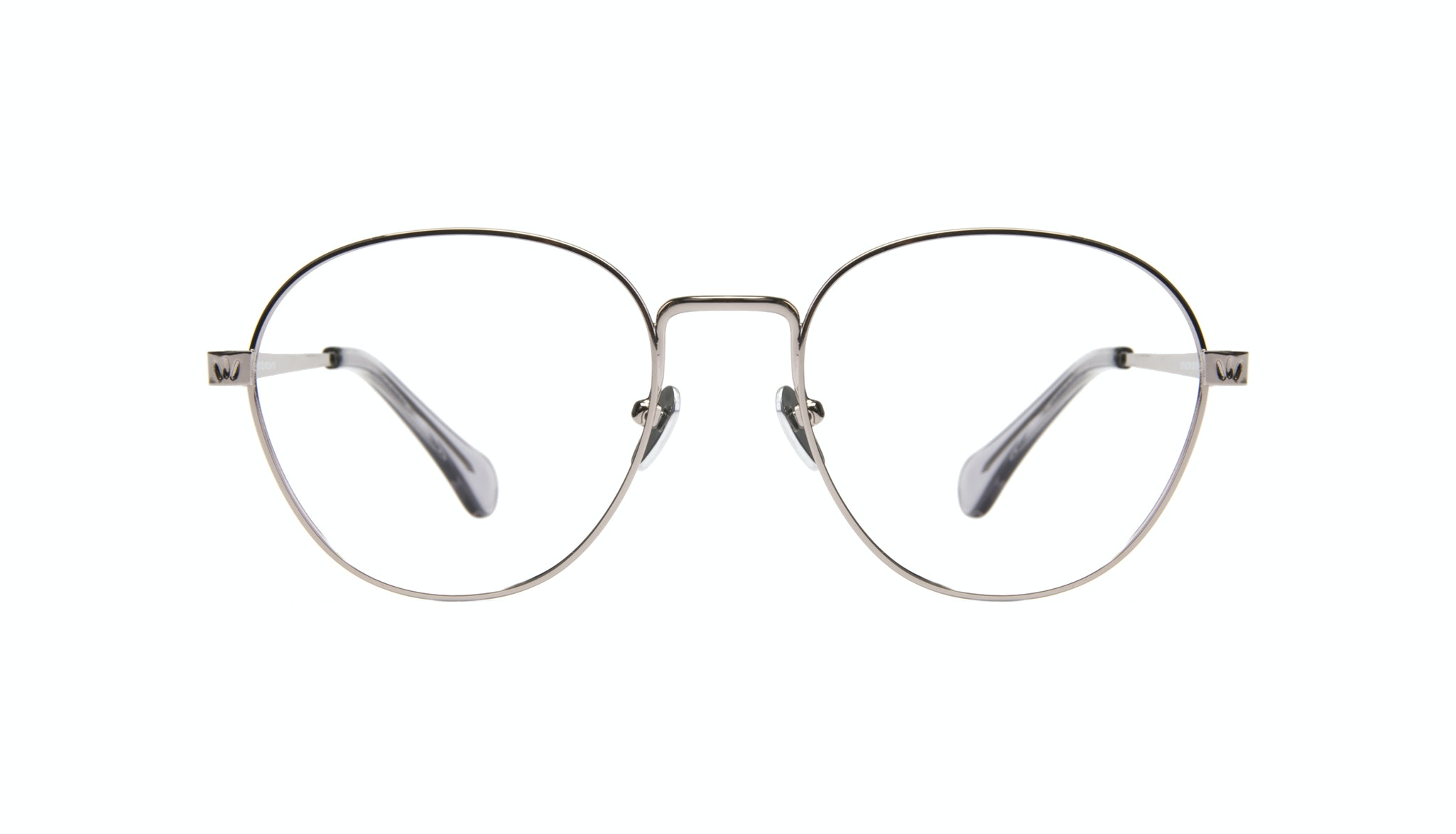 Affordable Fashion Glasses Round Eyeglasses Women Brace Silver