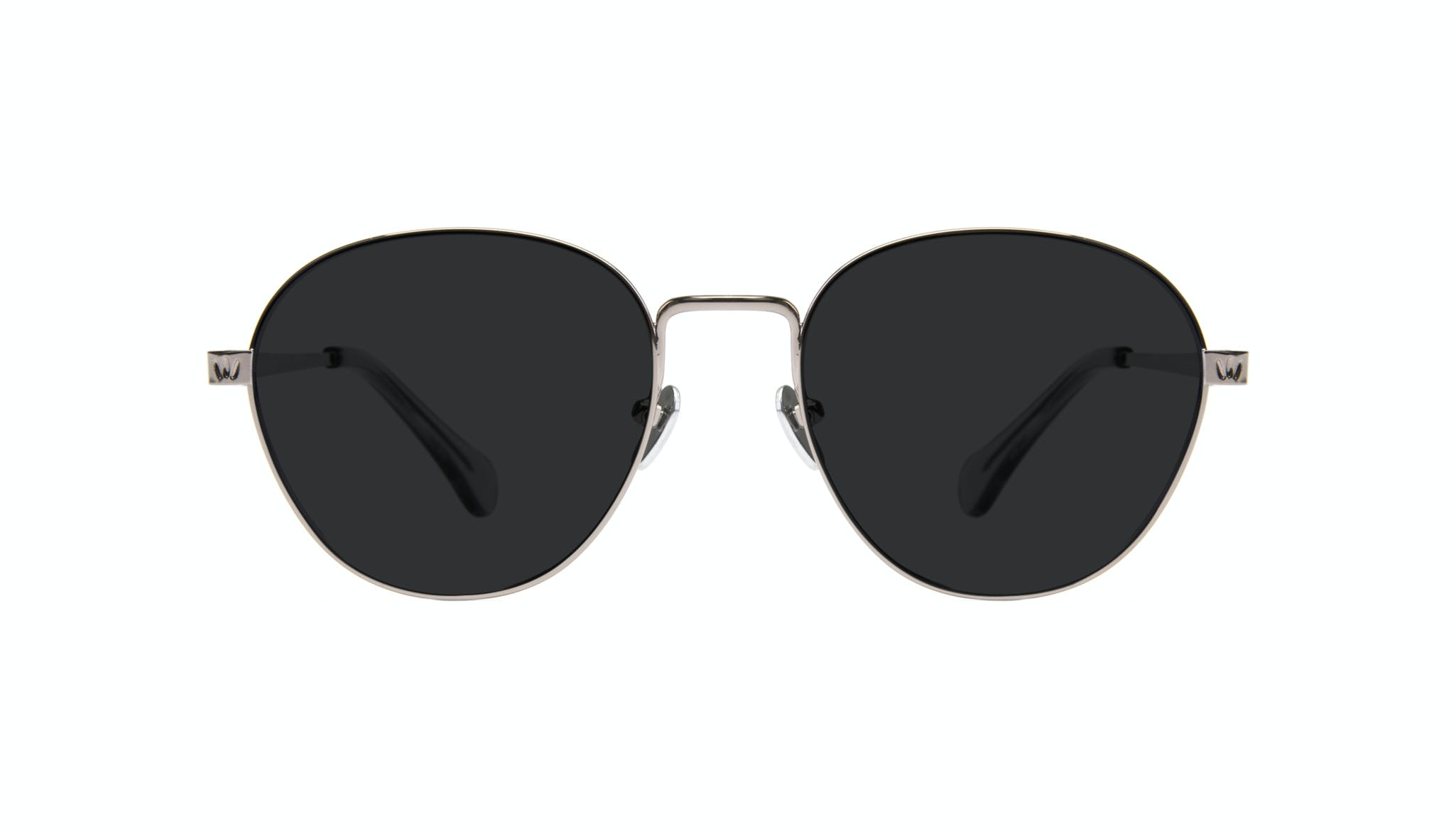 Affordable Fashion Glasses Round Sunglasses Women Brace Silver Front