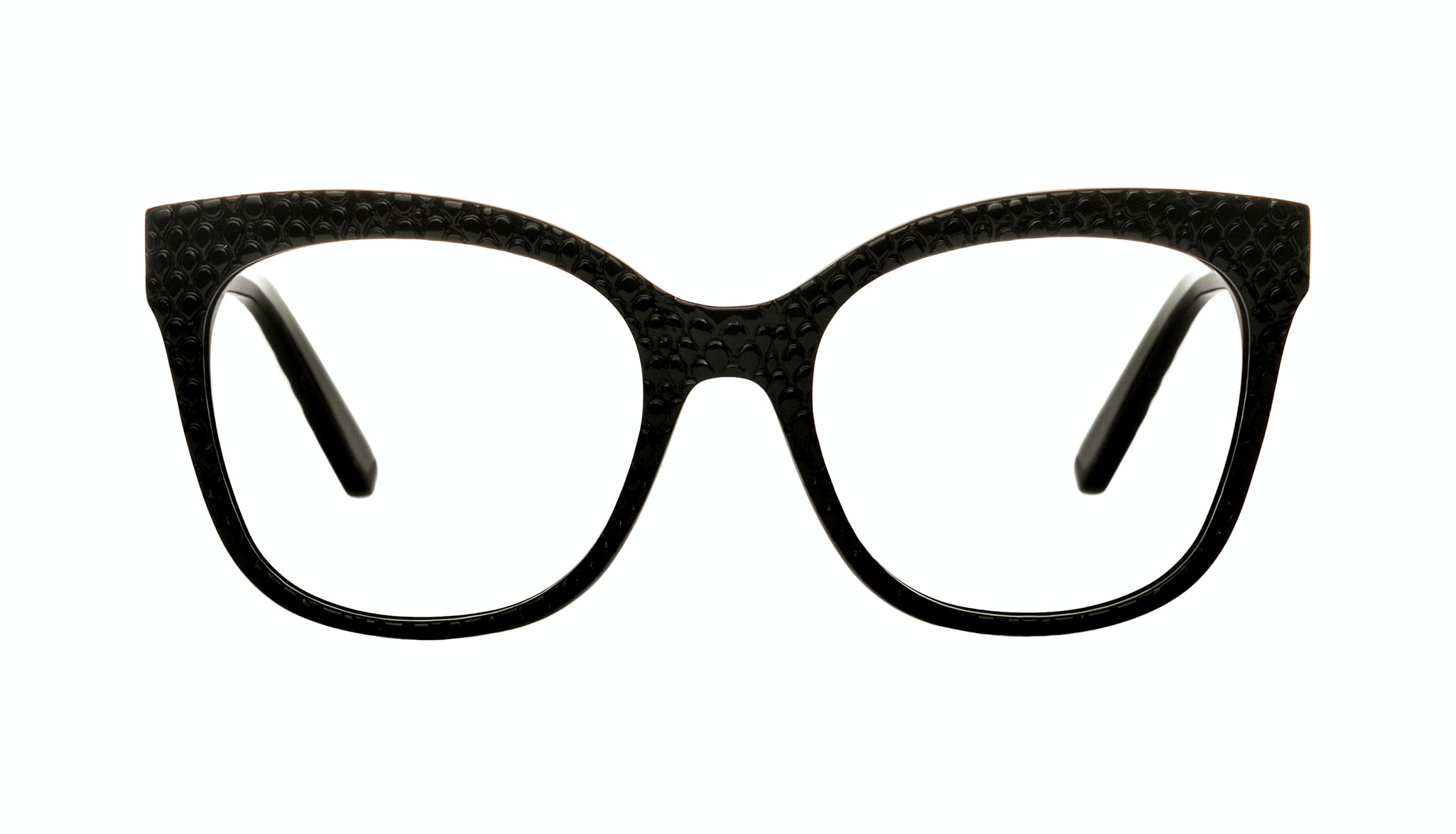 Affordable Fashion Glasses Rectangle Square Eyeglasses Women Breezy Croco Front