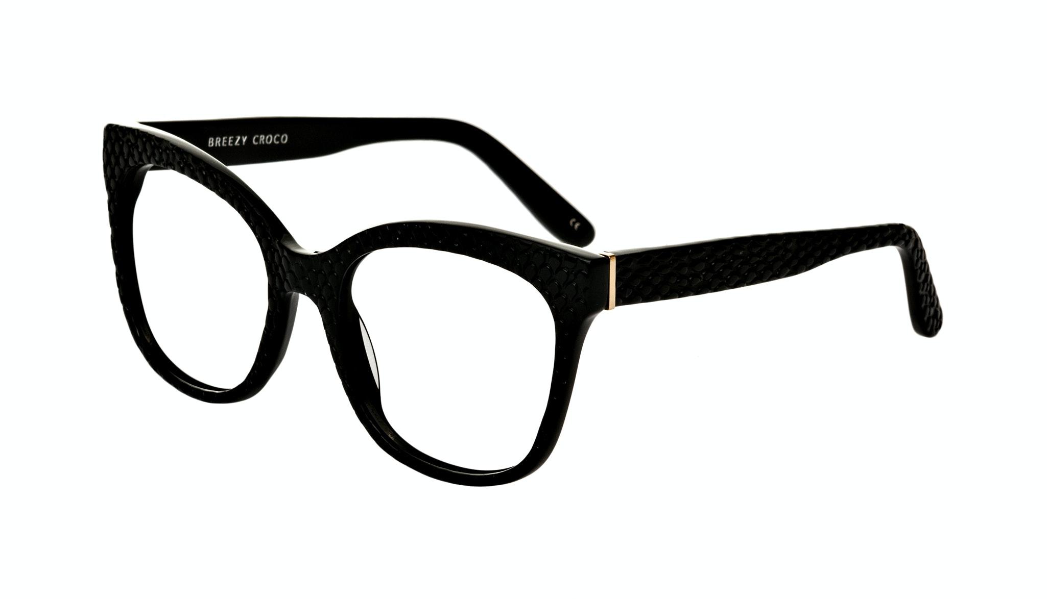 Affordable Fashion Glasses Rectangle Square Eyeglasses Women Breezy Croco Tilt