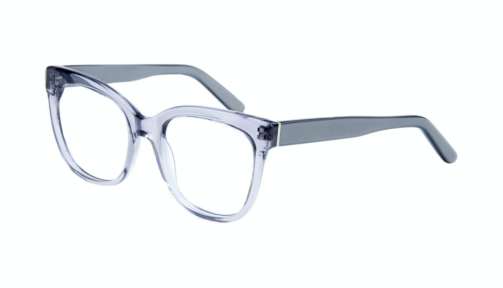 Affordable Fashion Glasses Rectangle Square Eyeglasses Women Breezy Grey Metal Tilt