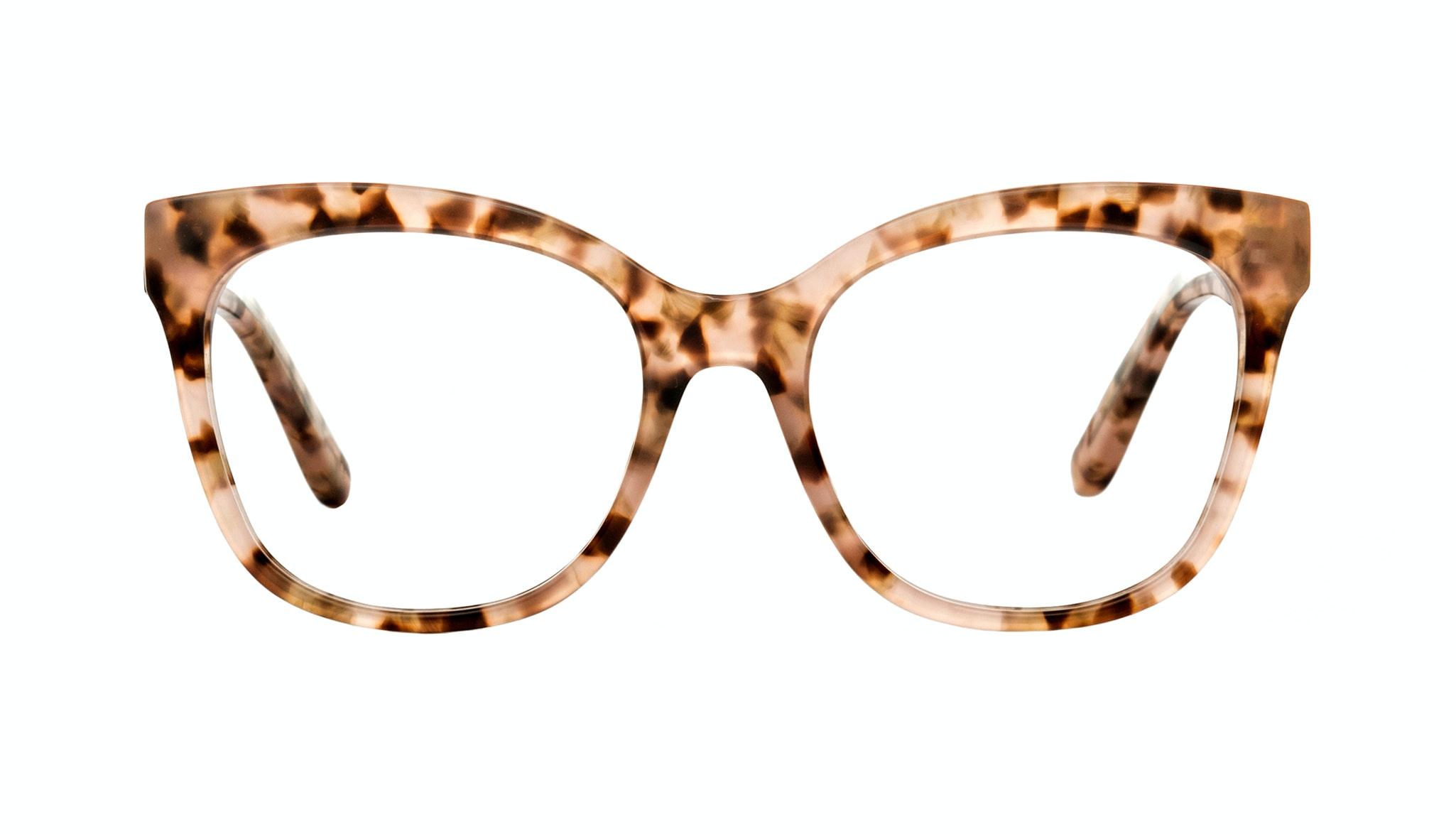 Affordable Fashion Glasses Square Eyeglasses Women Breezy Pink Leopard Front