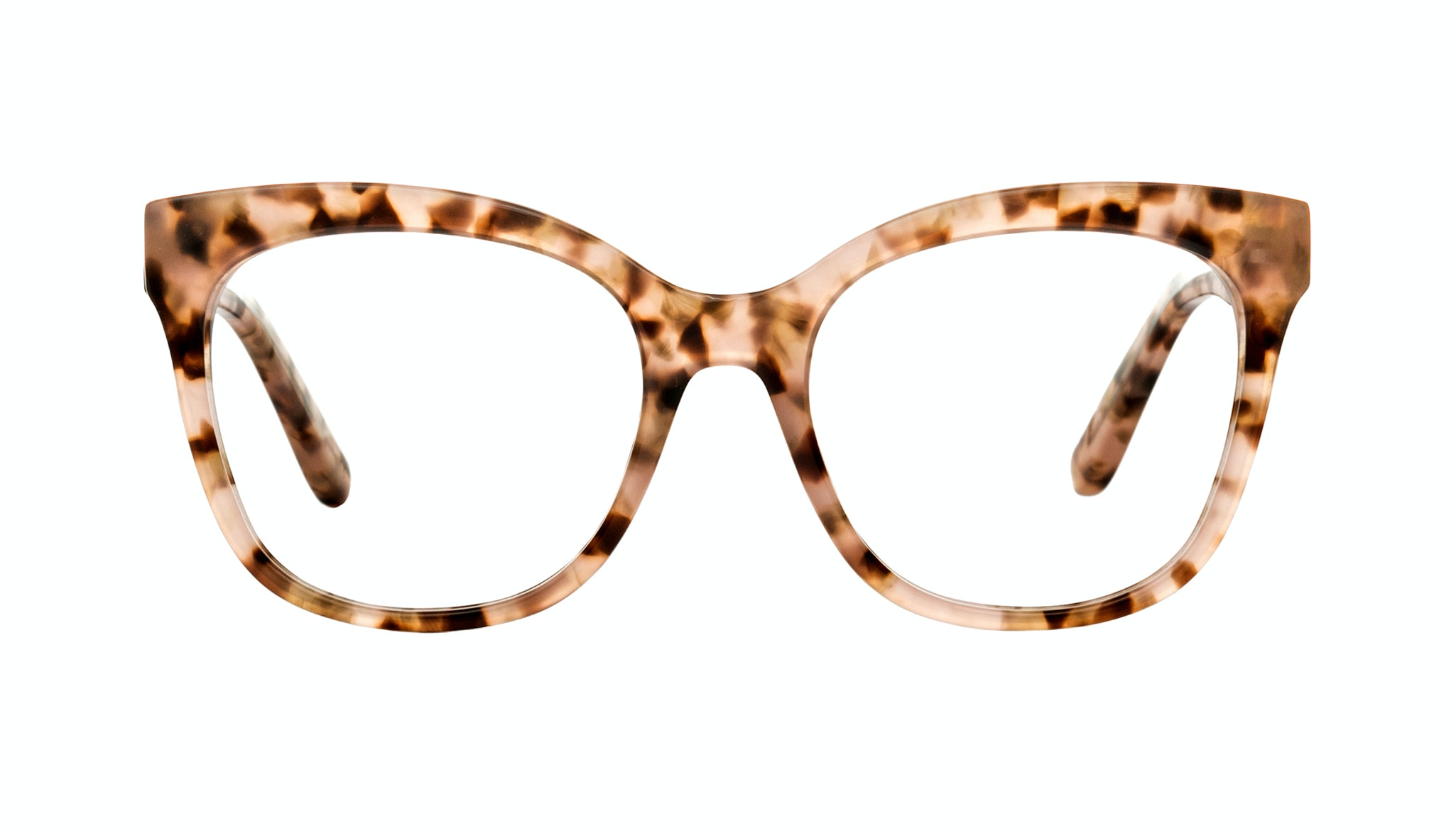 Affordable Fashion Glasses Rectangle Square Eyeglasses Women Breezy Pink Leopard Front