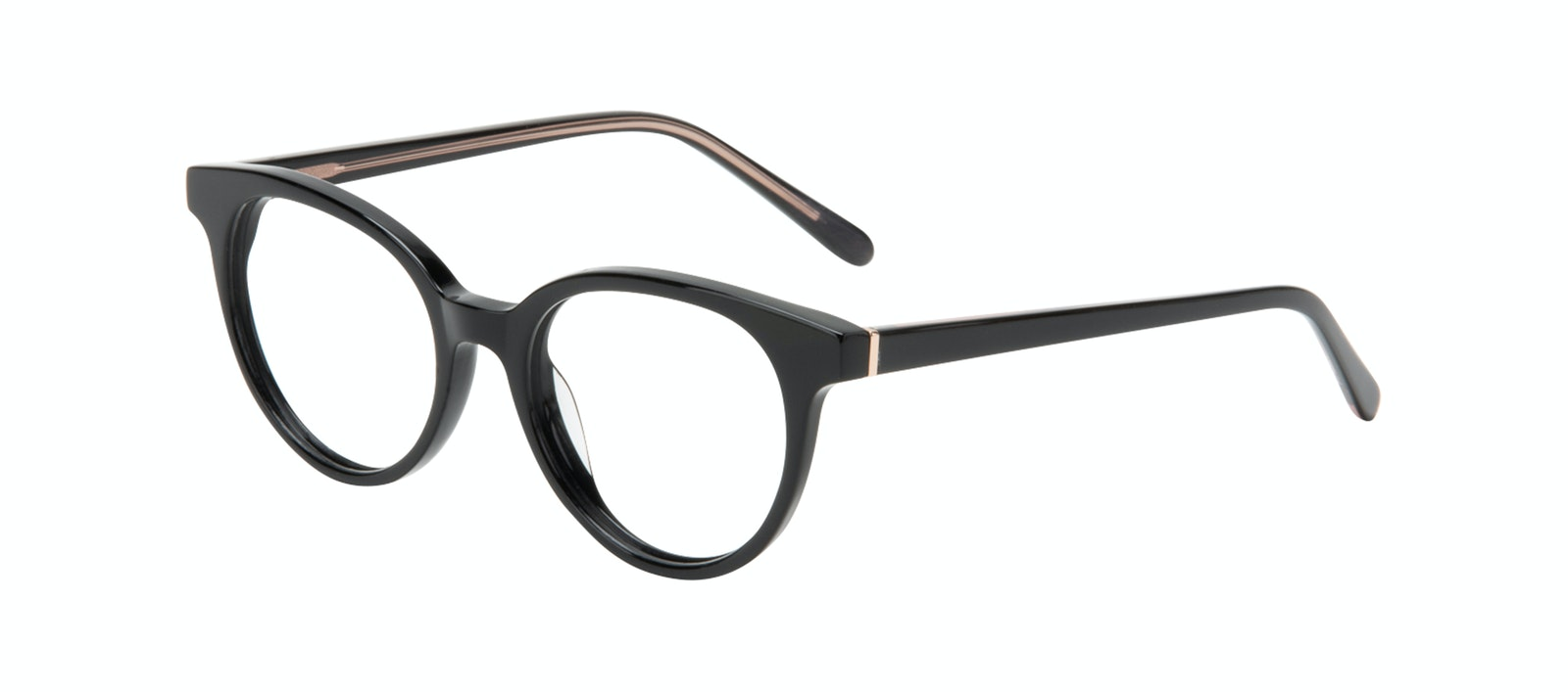 Affordable Fashion Glasses Round Eyeglasses Women Bright Black Tilt