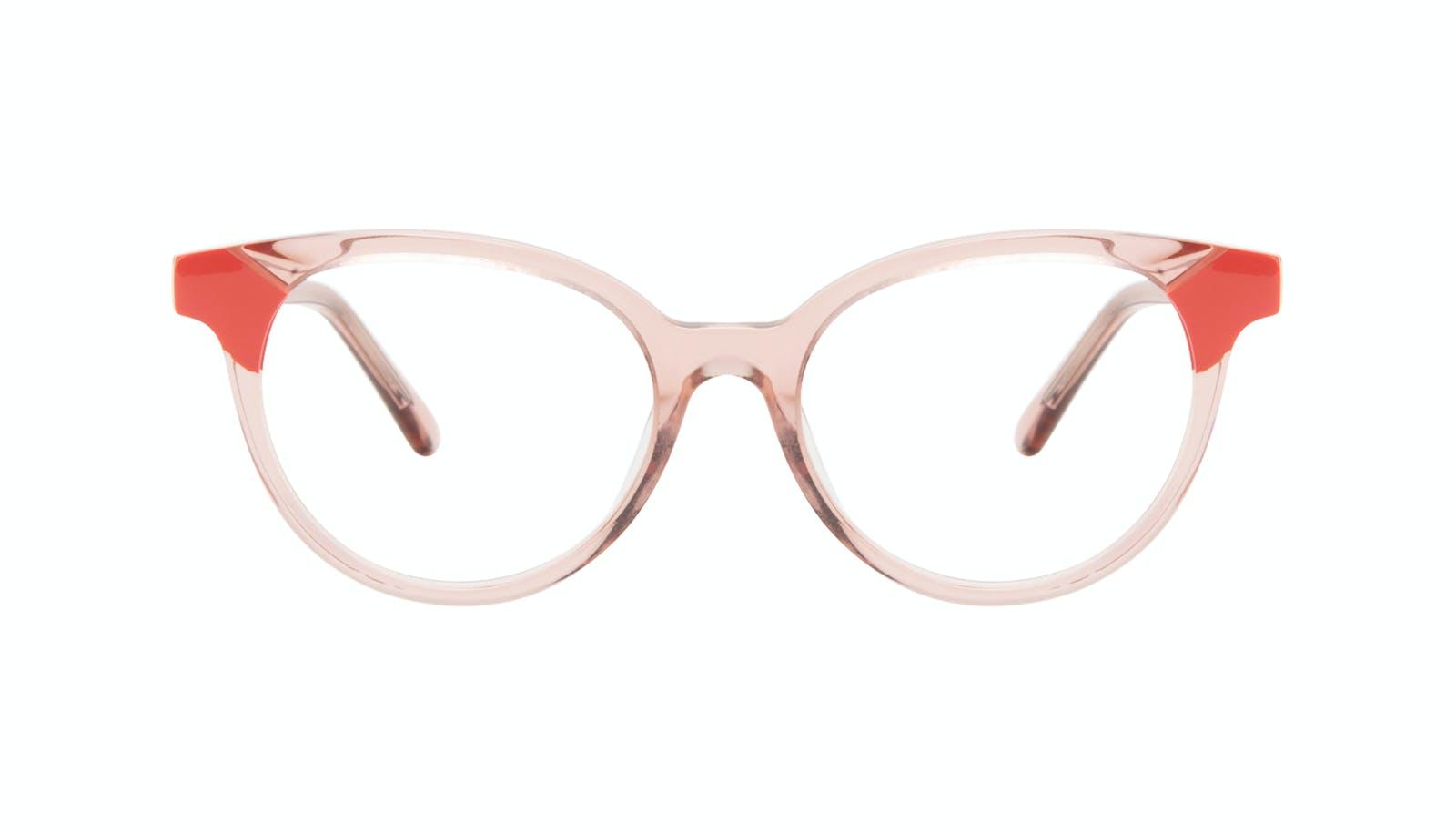 Lunettes tendance Ronde Lunettes de vue Femmes Bright Pink Coral b5826c036d5e