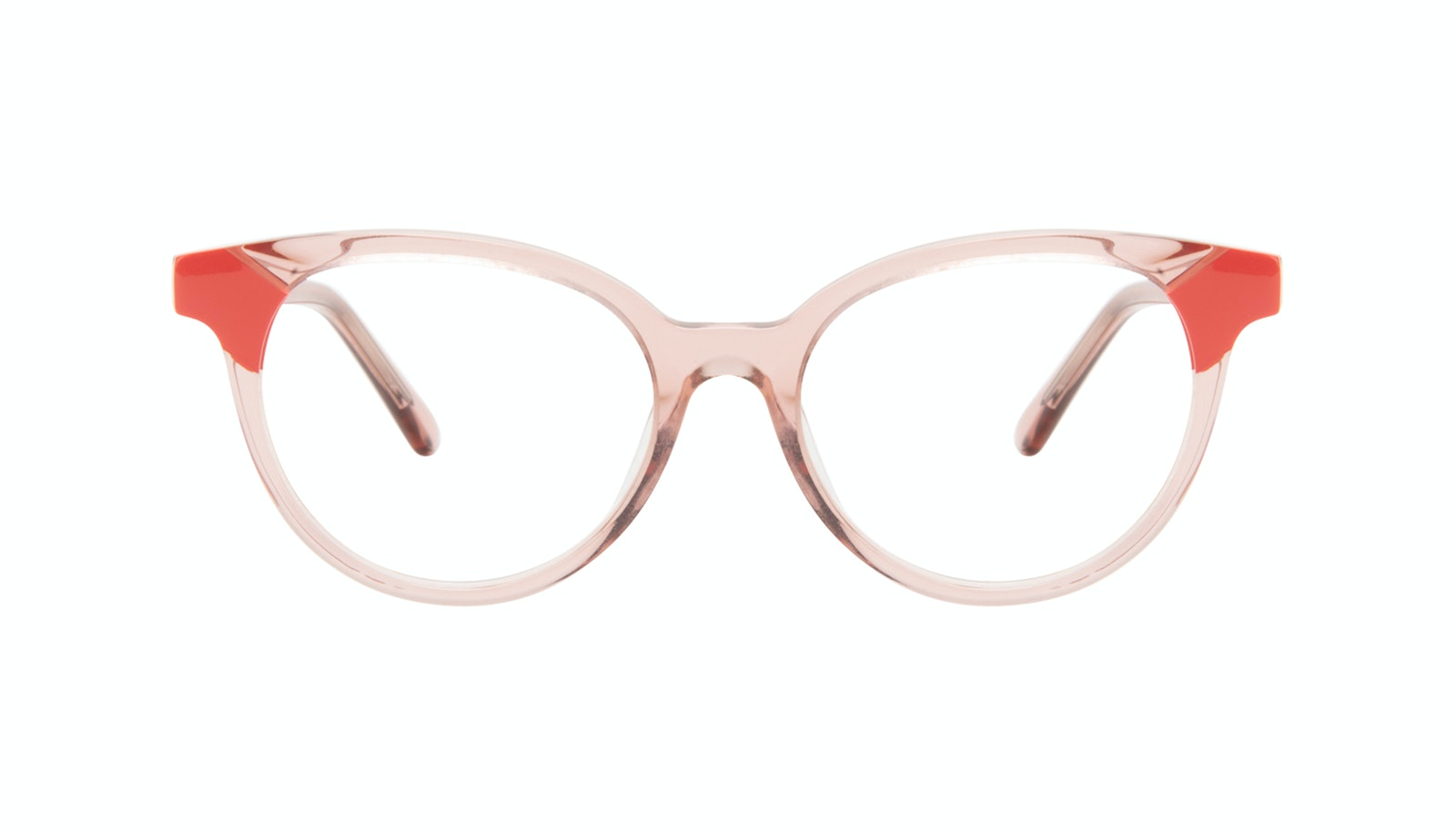 Affordable Fashion Glasses Round Eyeglasses Women Bright Pink Coral