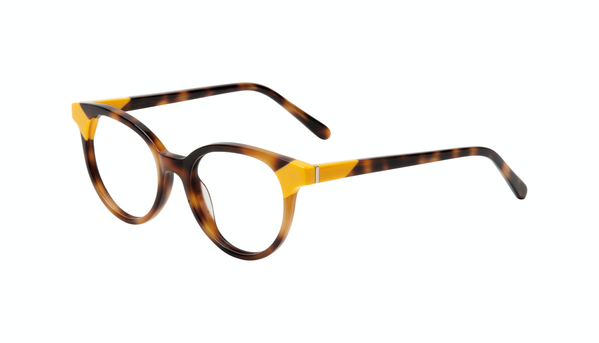 Affordable Fashion Glasses Round Eyeglasses Women Bright Yellow Pop Tilt