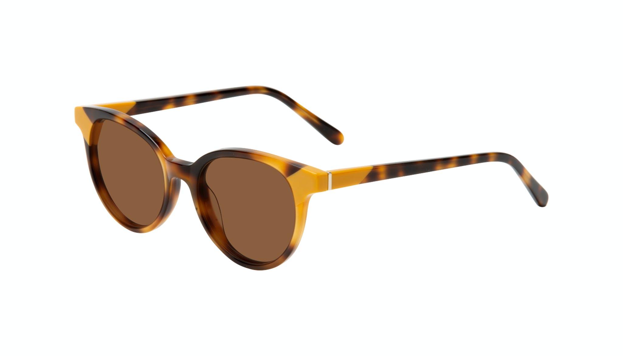 Affordable Fashion Glasses Round Sunglasses Women Bright Yellow Pop Tilt