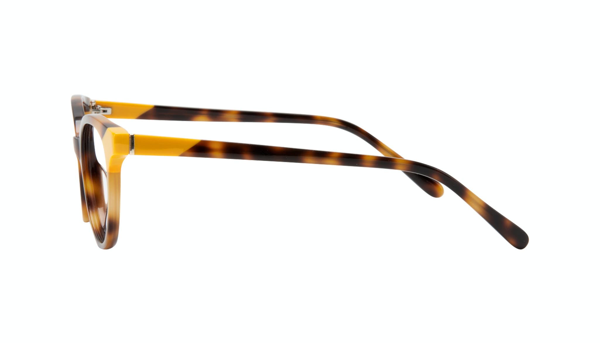 Affordable Fashion Glasses Round Eyeglasses Women Bright Yellow Pop Side