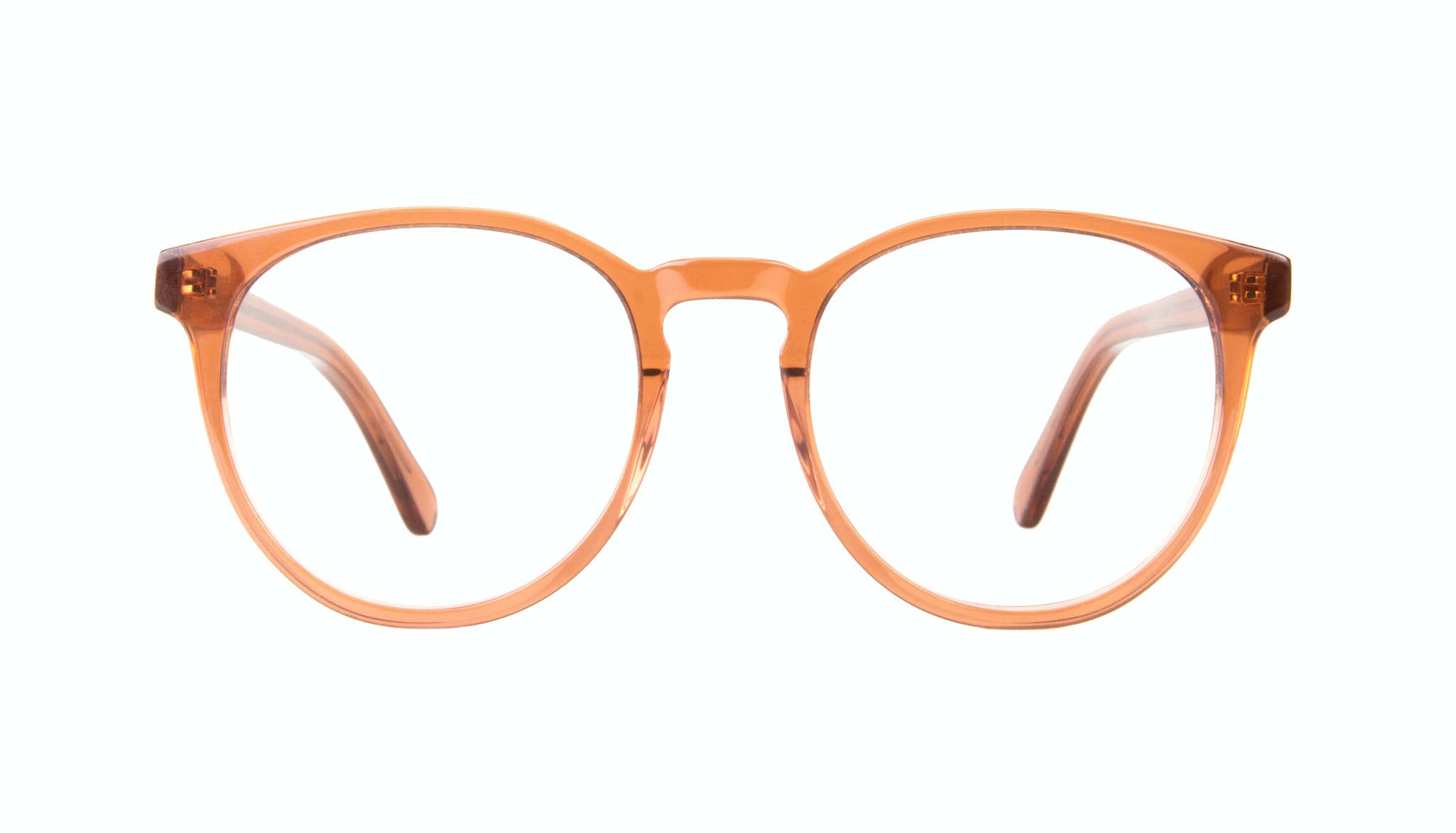 Affordable Fashion Glasses Round Eyeglasses Women Brilliant Umber Front