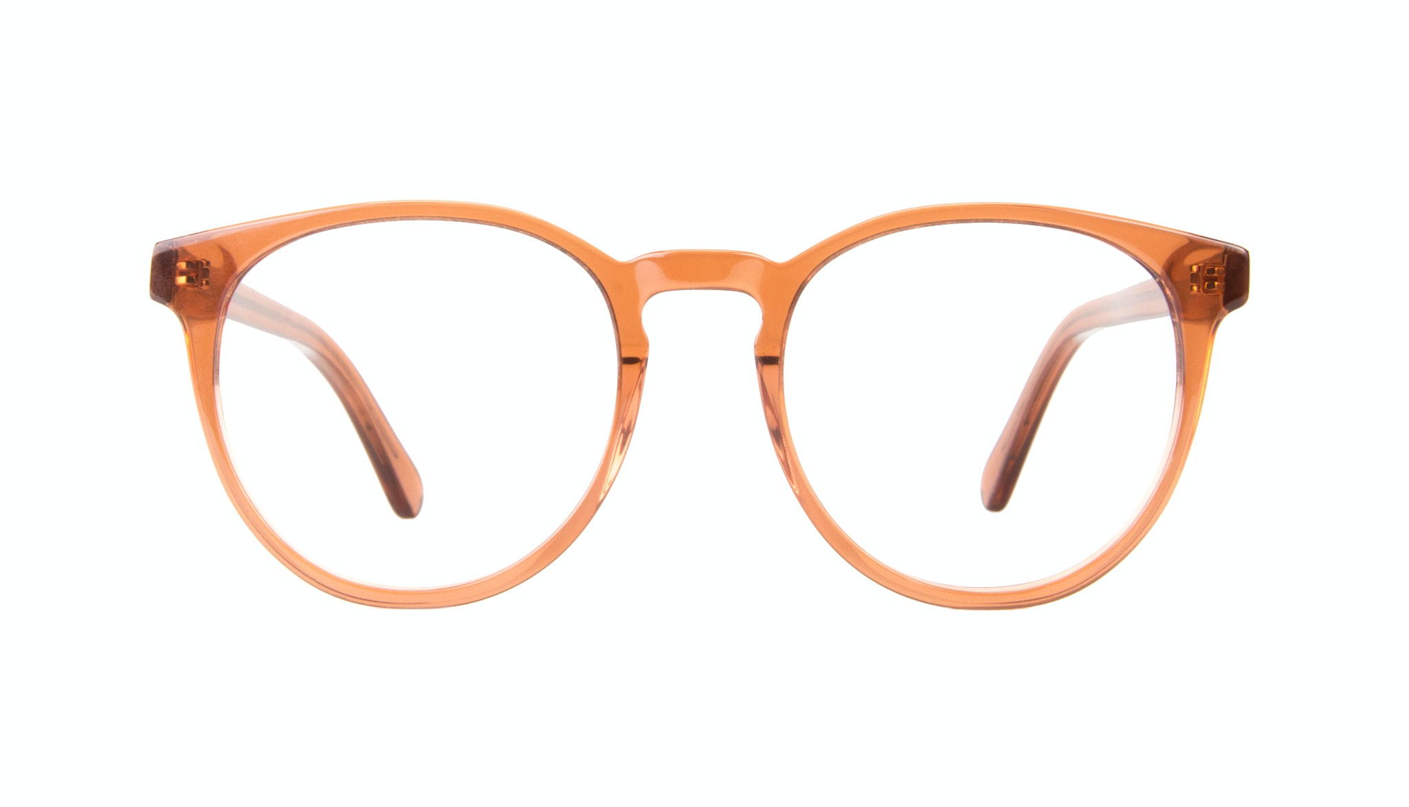 Affordable Fashion Glasses Round Eyeglasses Women Brilliant Umber
